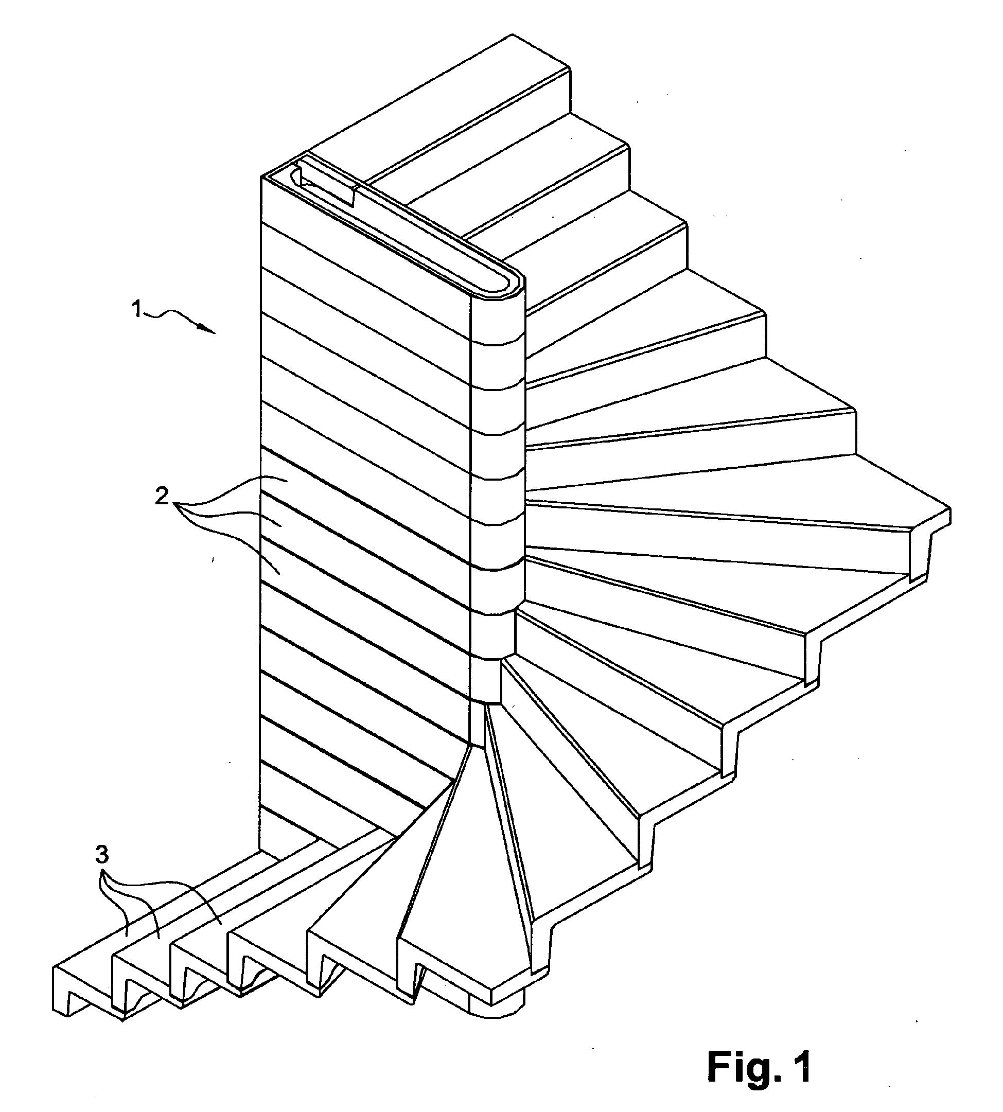 Patent ep2363549b9 escalier de type balanc mur for Escalier prefabrique