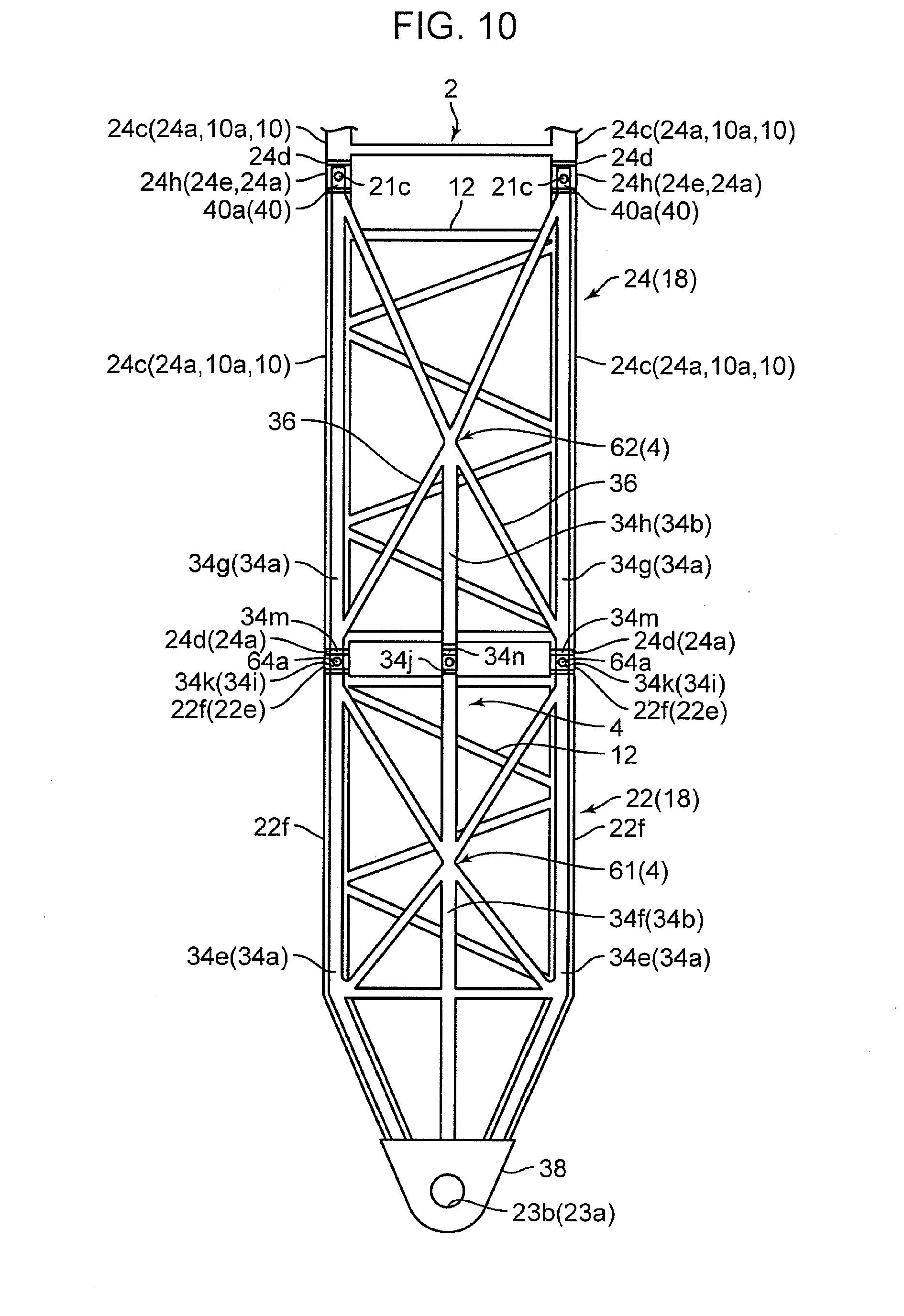 lattice boom crane components