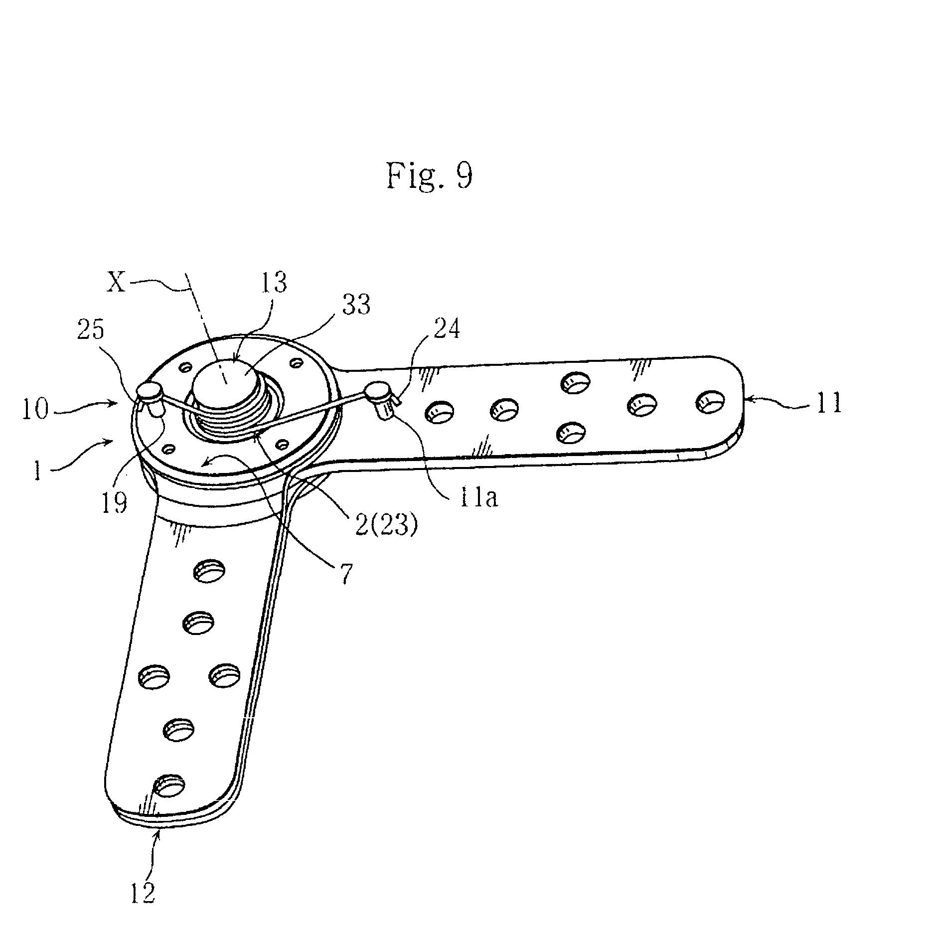 patent ep2389839b1 scharnier mit einstellbarer winkel. Black Bedroom Furniture Sets. Home Design Ideas