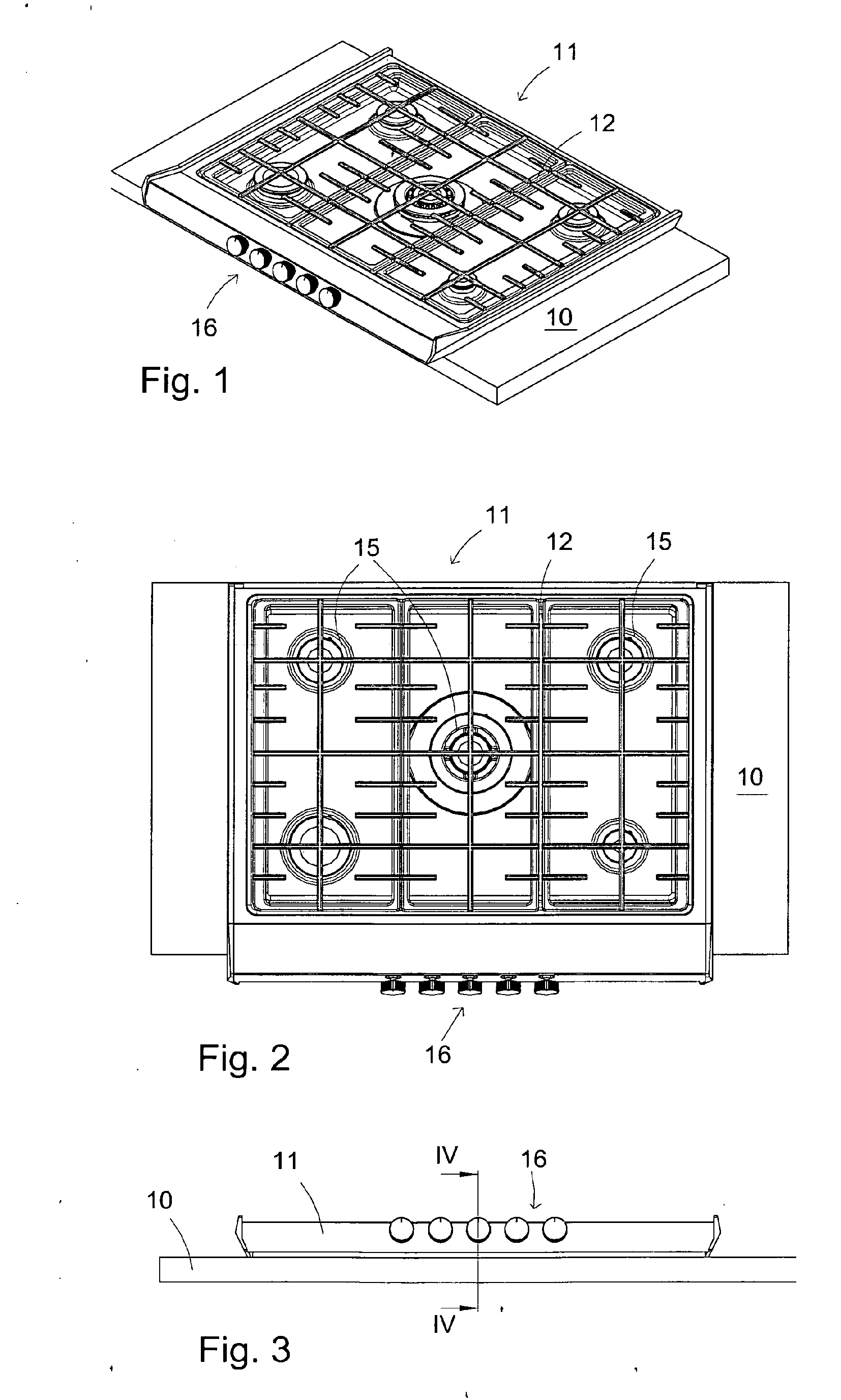 Patent EP A2 Recessed stove top Google Patents