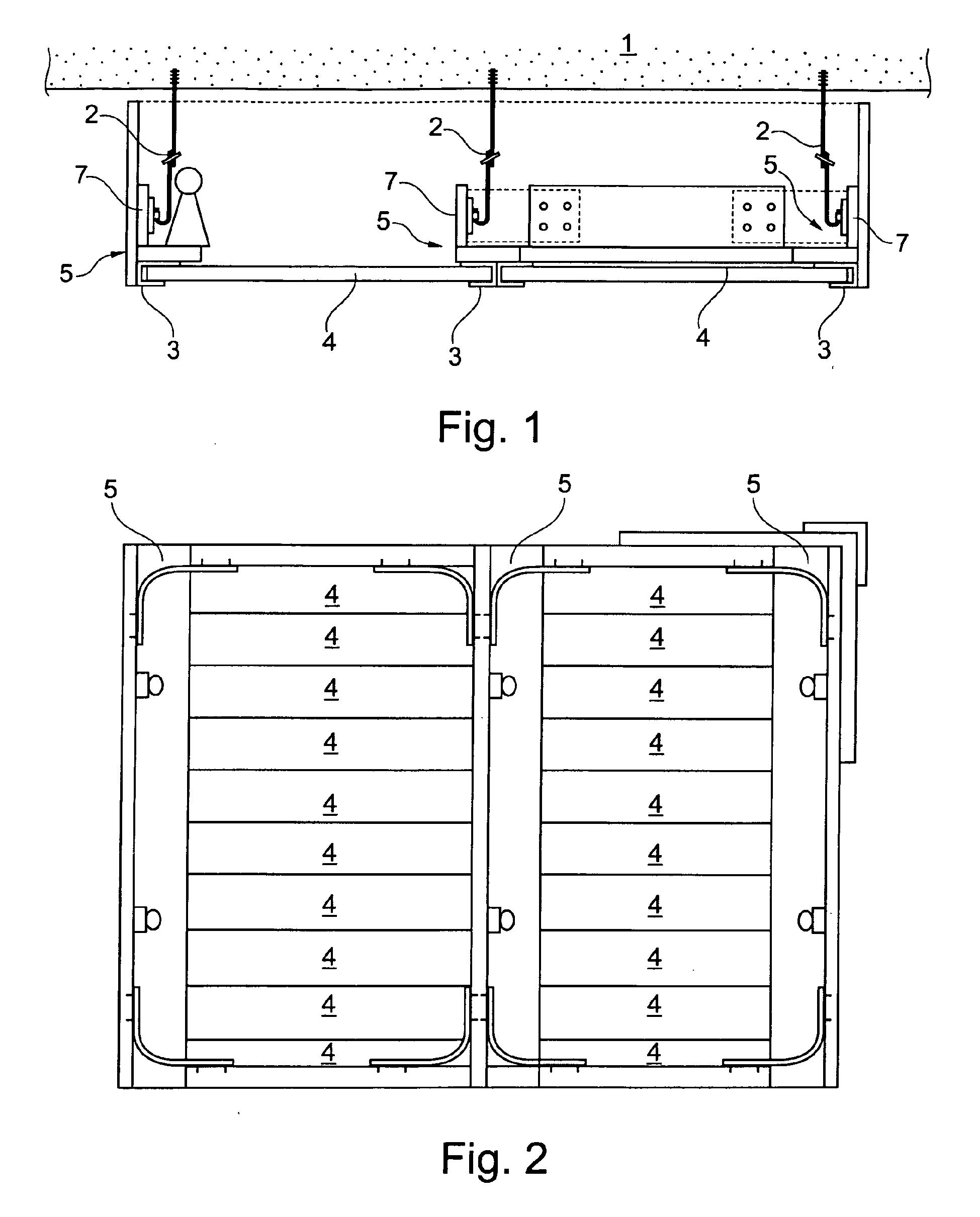 patent ep2426285a1 system f r die herstellung eines unterhalb einer decke montierbaren. Black Bedroom Furniture Sets. Home Design Ideas