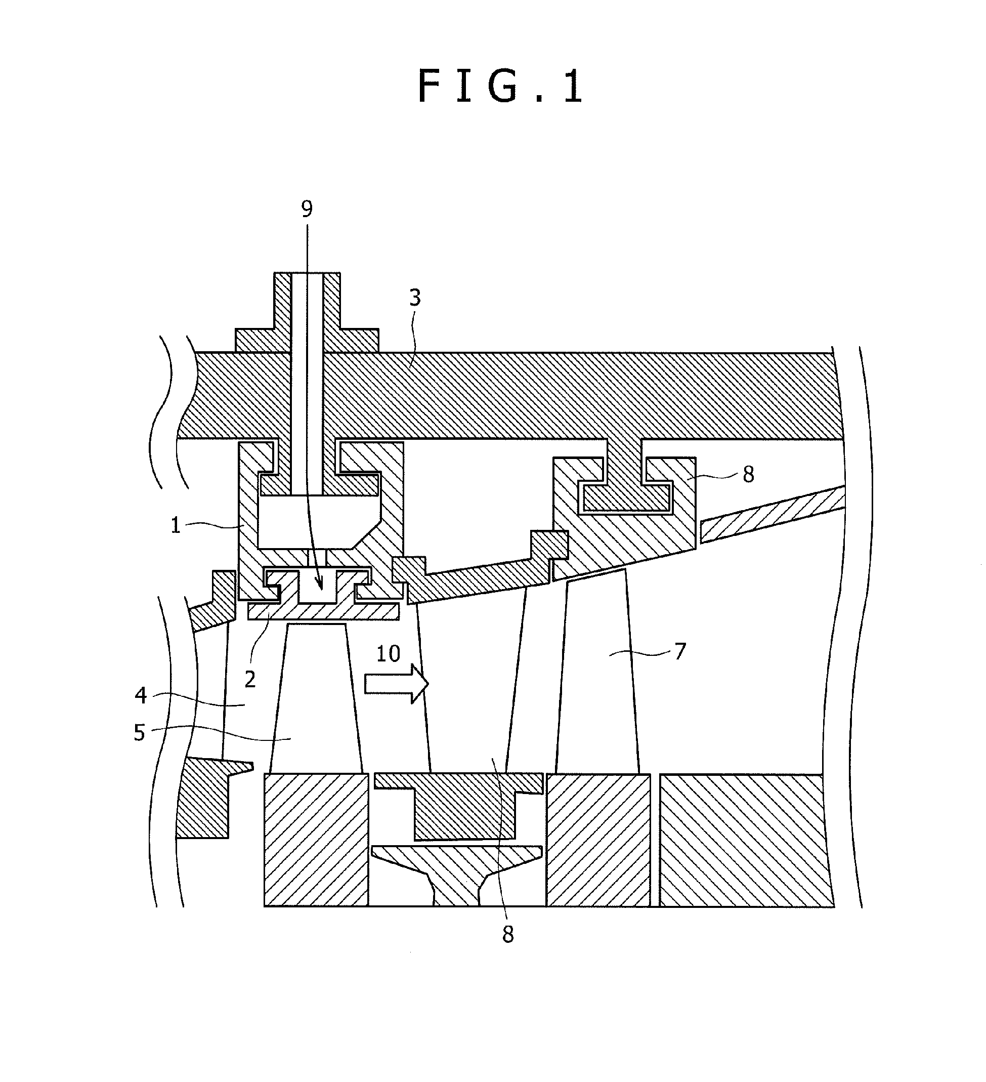 Patent EP A2 Shroud structure for gas turbine Google Patents