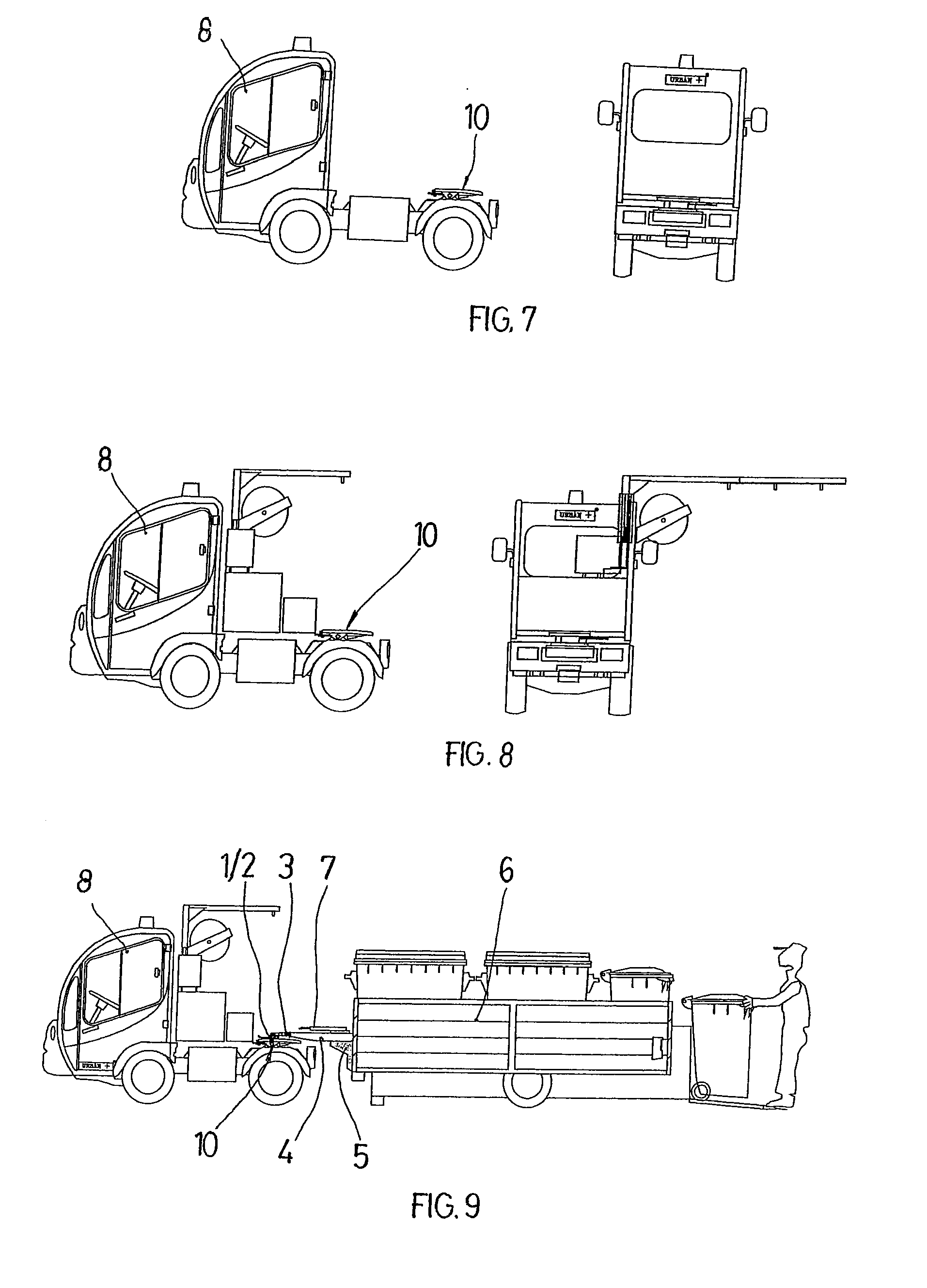 Semi Coupling System : Patent ep a system for coupling semi trailers