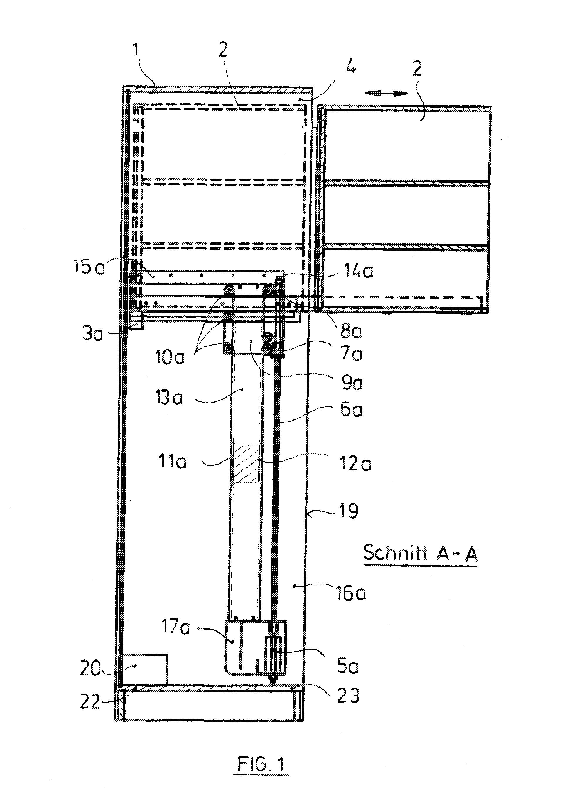 patent ep2526818a1 beschlag f r einen behindertengerechten schrank sowie entsprechender. Black Bedroom Furniture Sets. Home Design Ideas