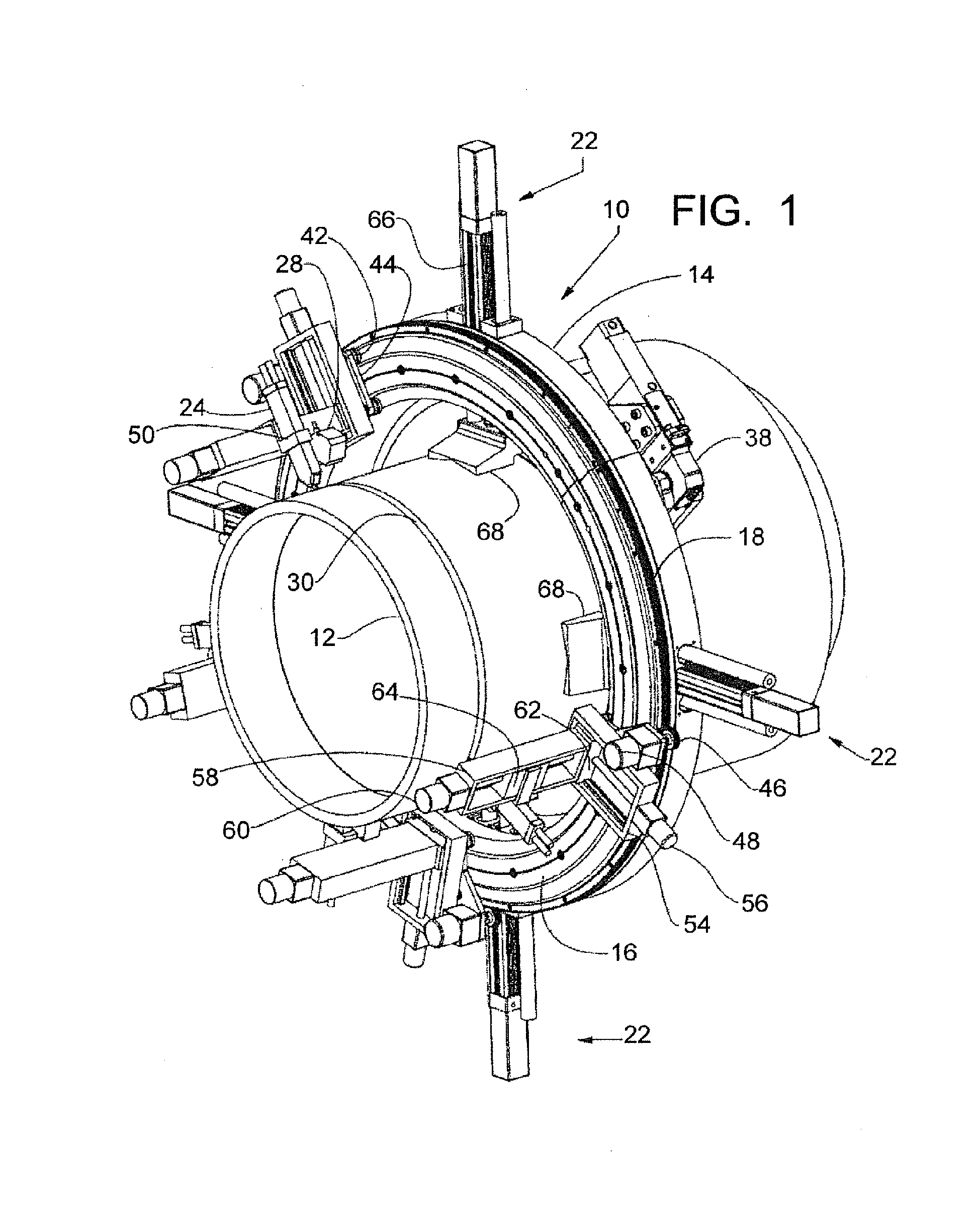 Patent ep a orbital welding apparatus with two