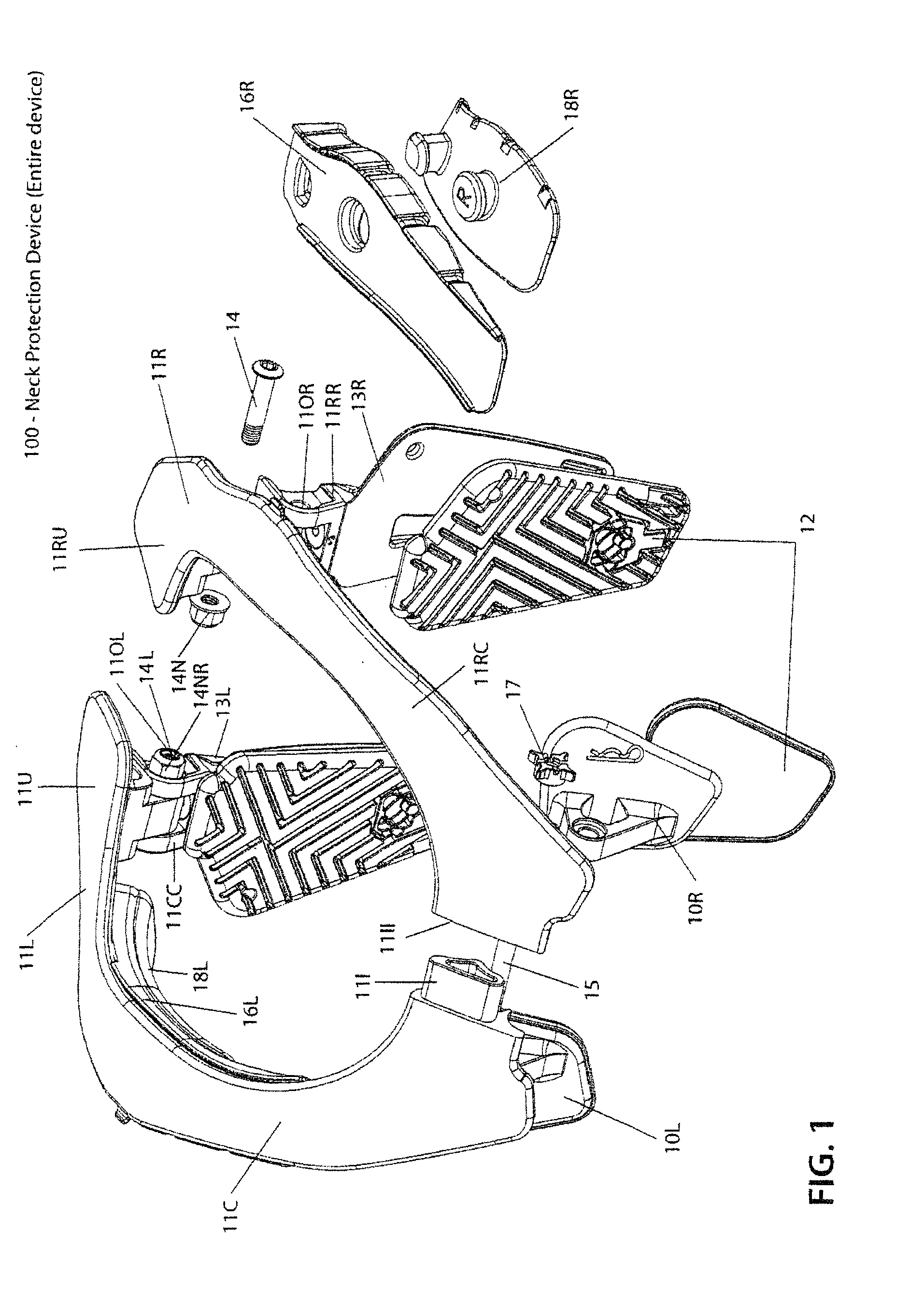 patent ep2556761a2 cervical spinal cord protection apparatus Spinal Cord Sections patent drawing