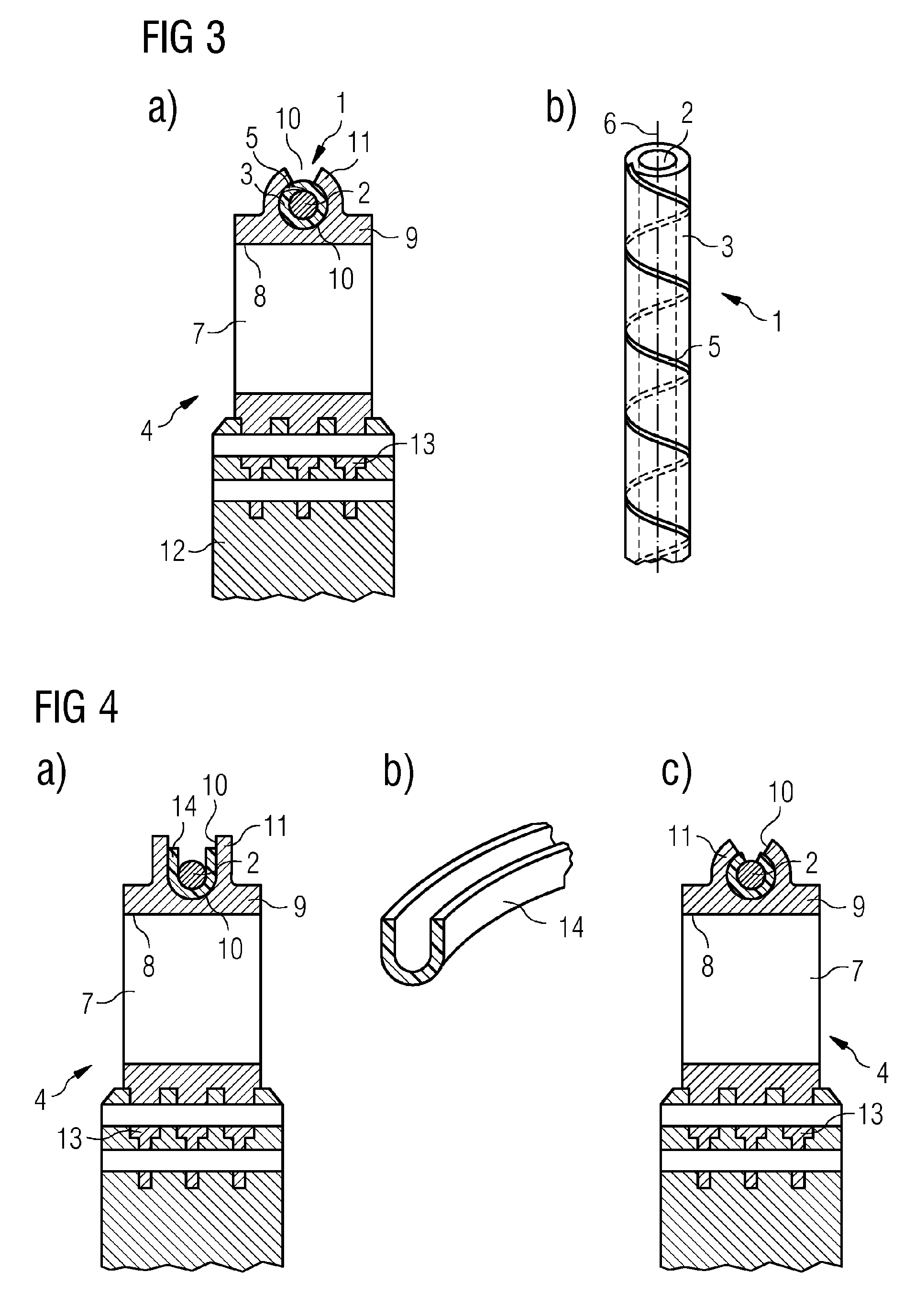 Patent EP A1 Damping wire corresponding rotor blade stage