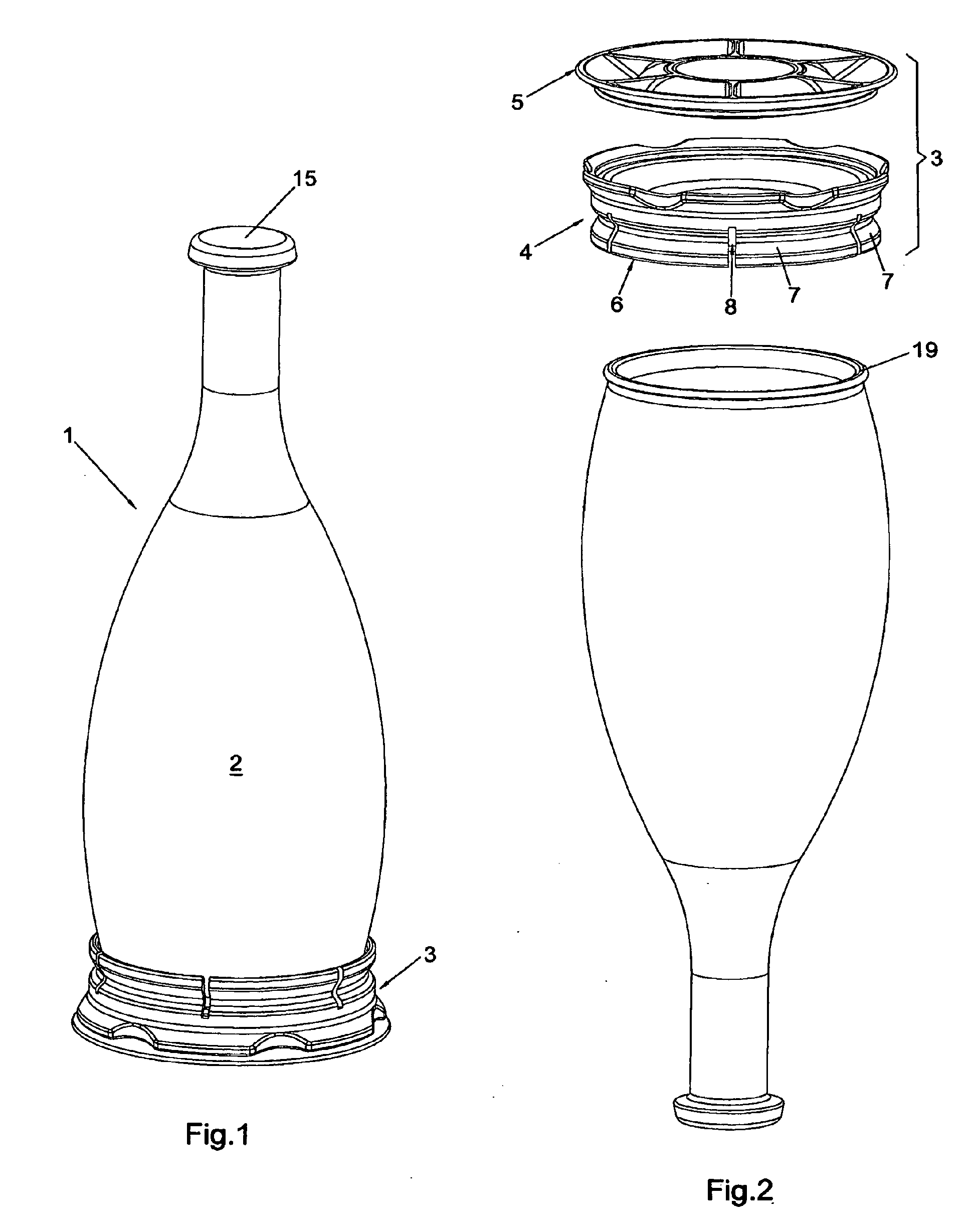 Patent ep2646324b1 flasche mit abnehmbarem boden for Google boden