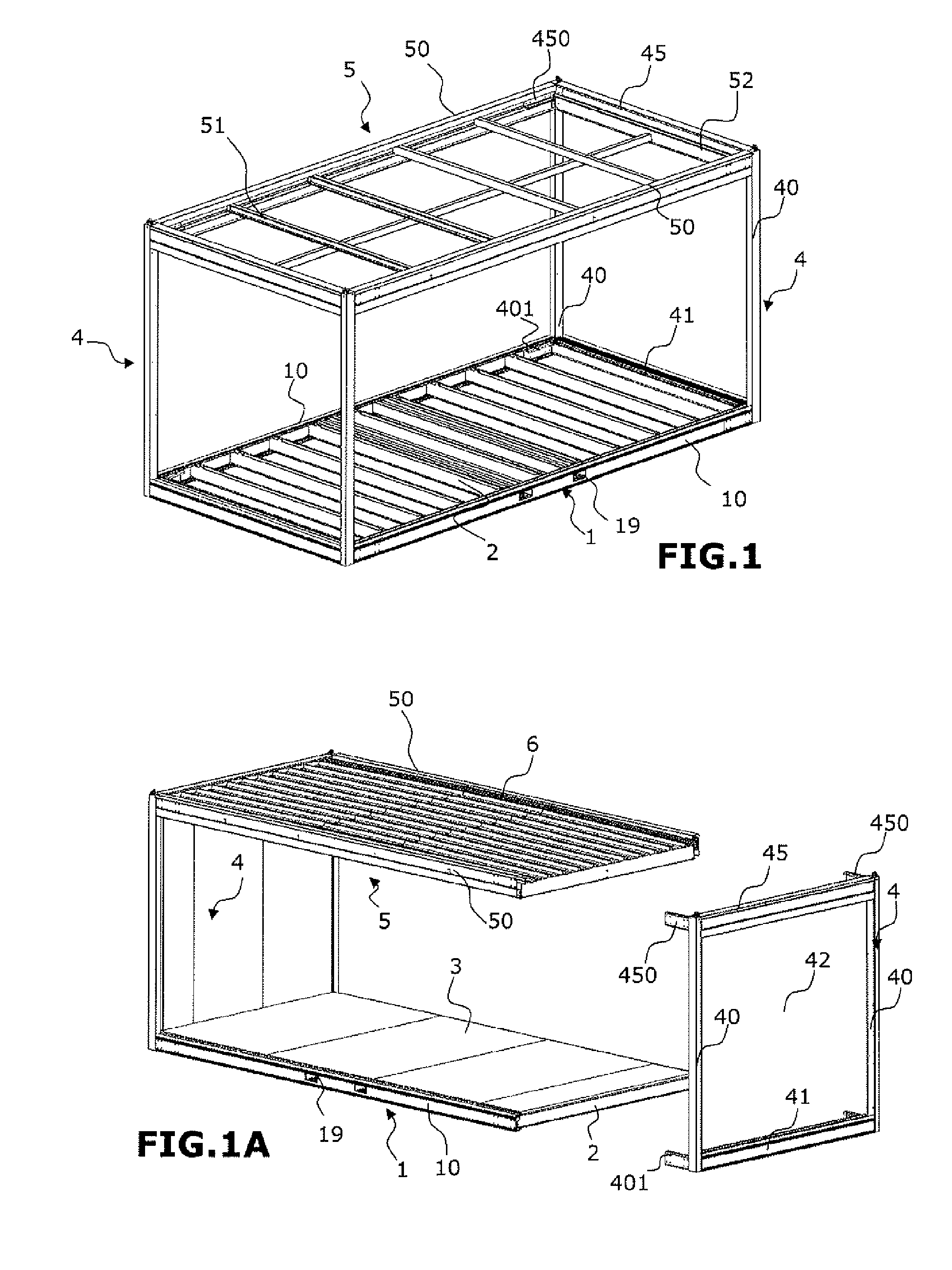 patent ep2674538a1 construction modulaire et procede d 39 assemblage correspondant google patents. Black Bedroom Furniture Sets. Home Design Ideas