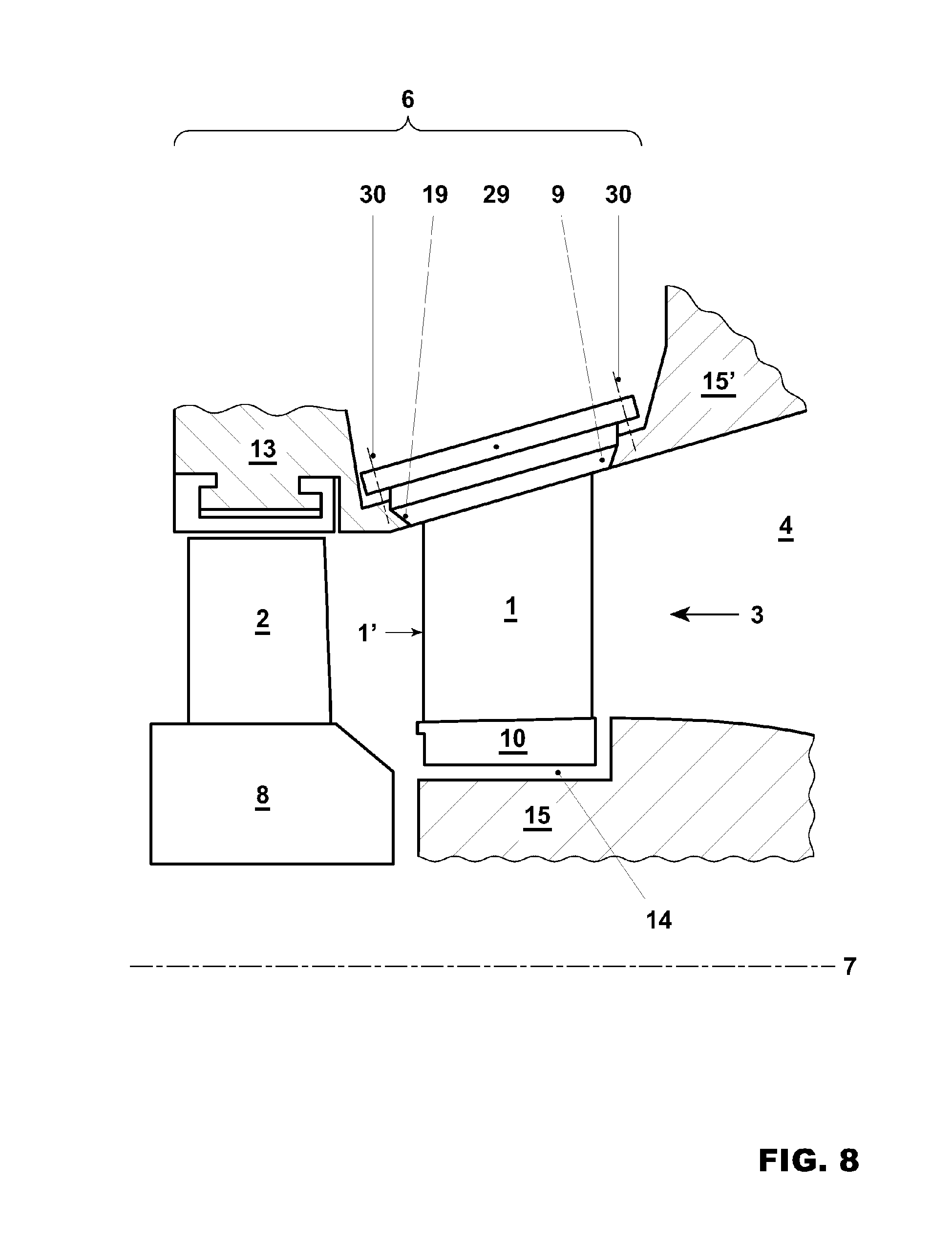 Patent EP A1 Stationary gas turbine arrangement and method