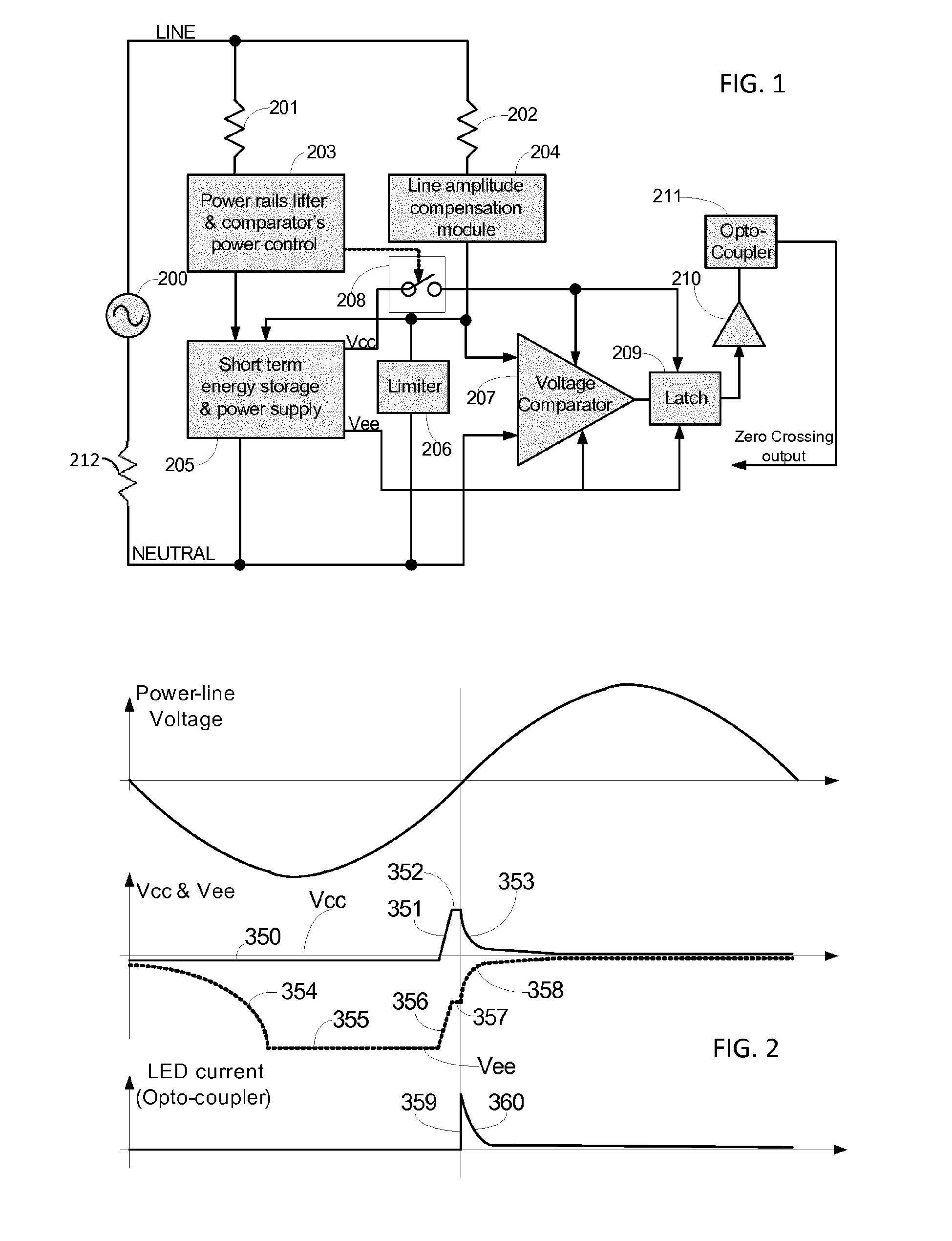zero crossing detector circuit wiring diagrams