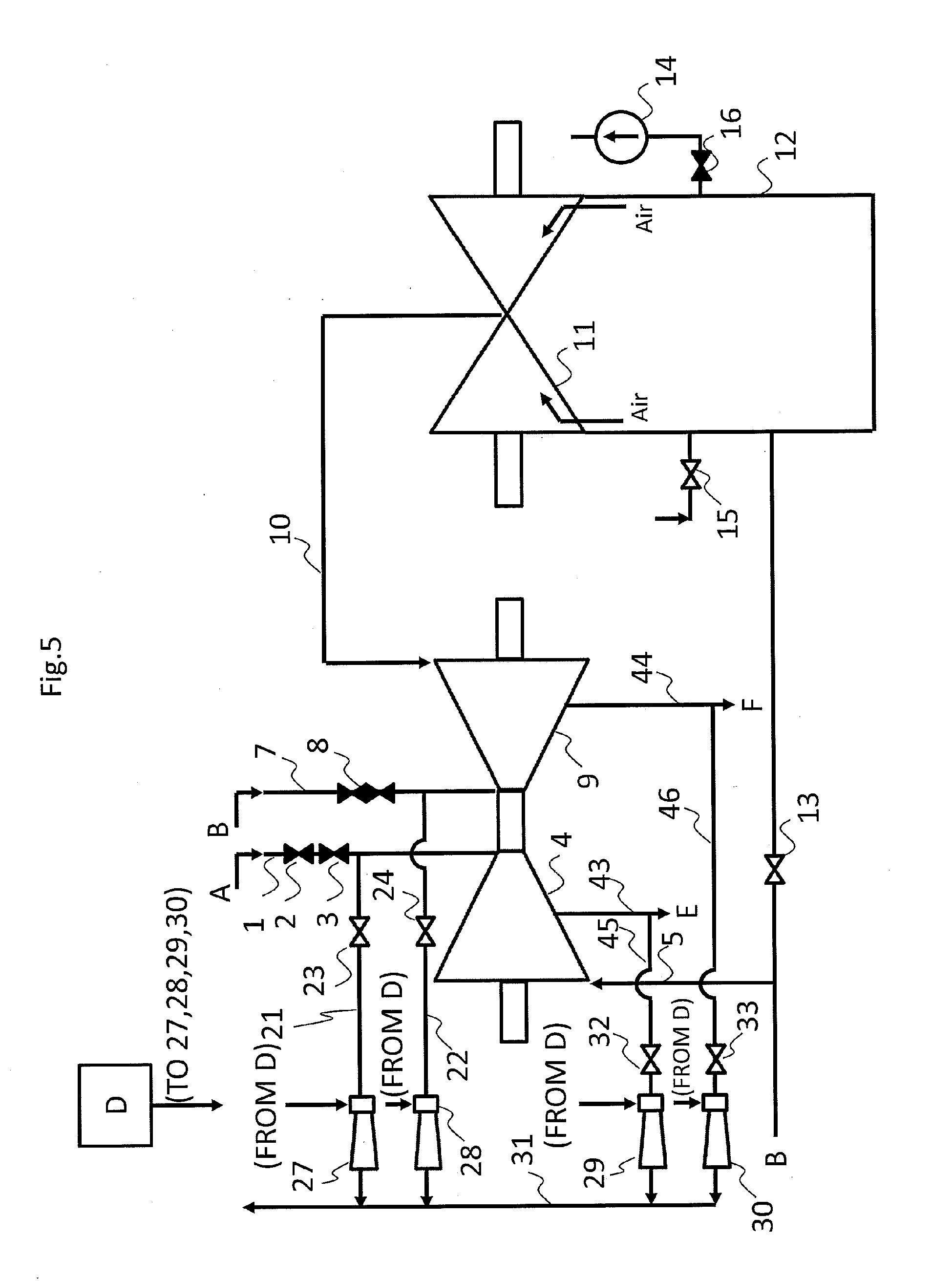 Patent EP A1 Steam turbine forced air cooling system