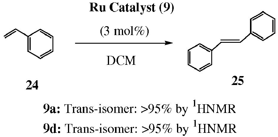 a novel ligand for the enantioselective ruthenium-catalyzed olefin metathesis The catalytic behaviour of the enantiomeric ruthenium complexes was investigated in model asymmetric metathesis transformations and compared to that of n-heterocyclic carbene ligands from desymmetrized meso-1,2- diphenylethylenediamine: application in ruthenium-catalyzed olefin metathesis.