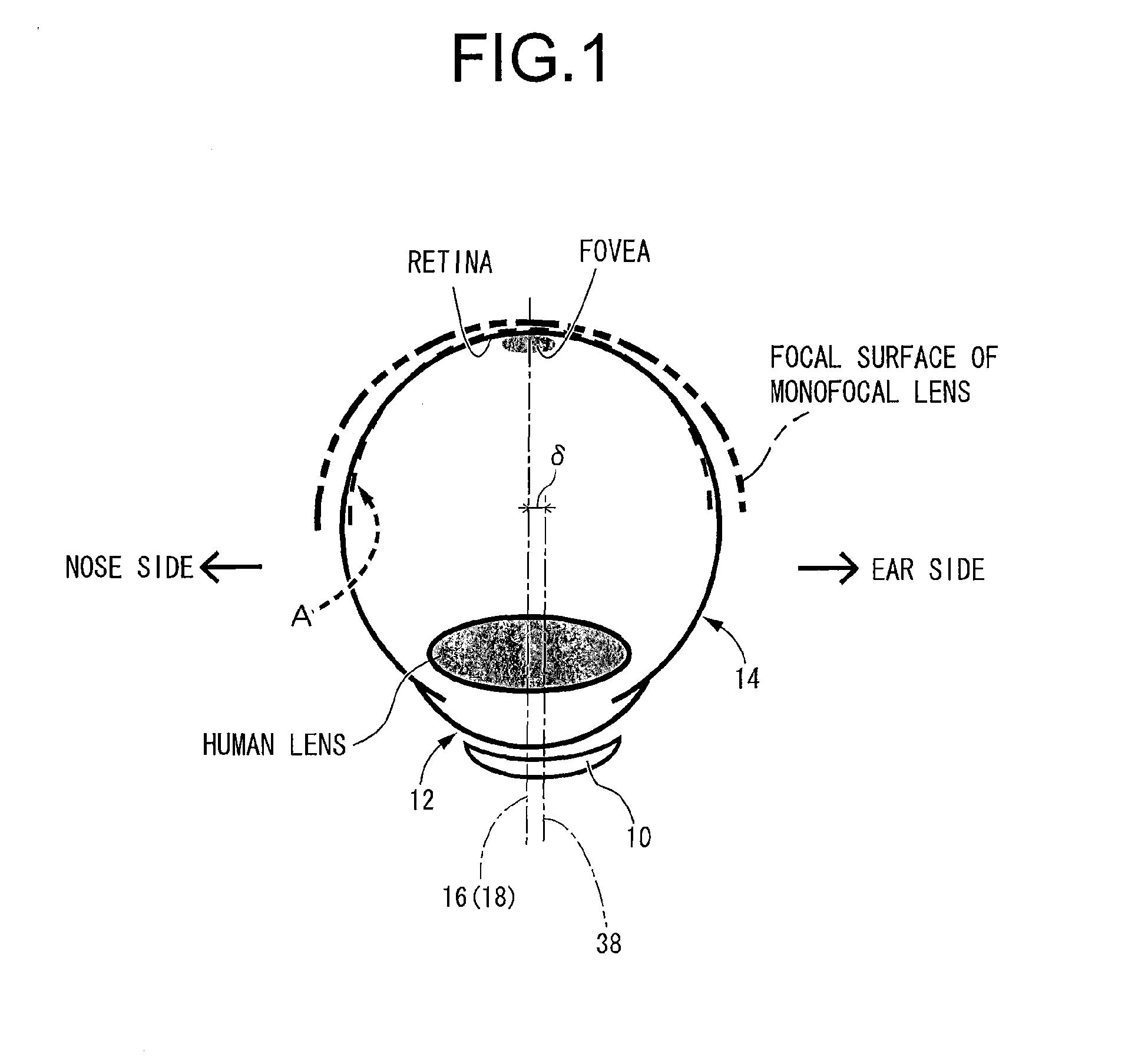 Patent EP2902839A1 - Contact lens having myopia progression ...