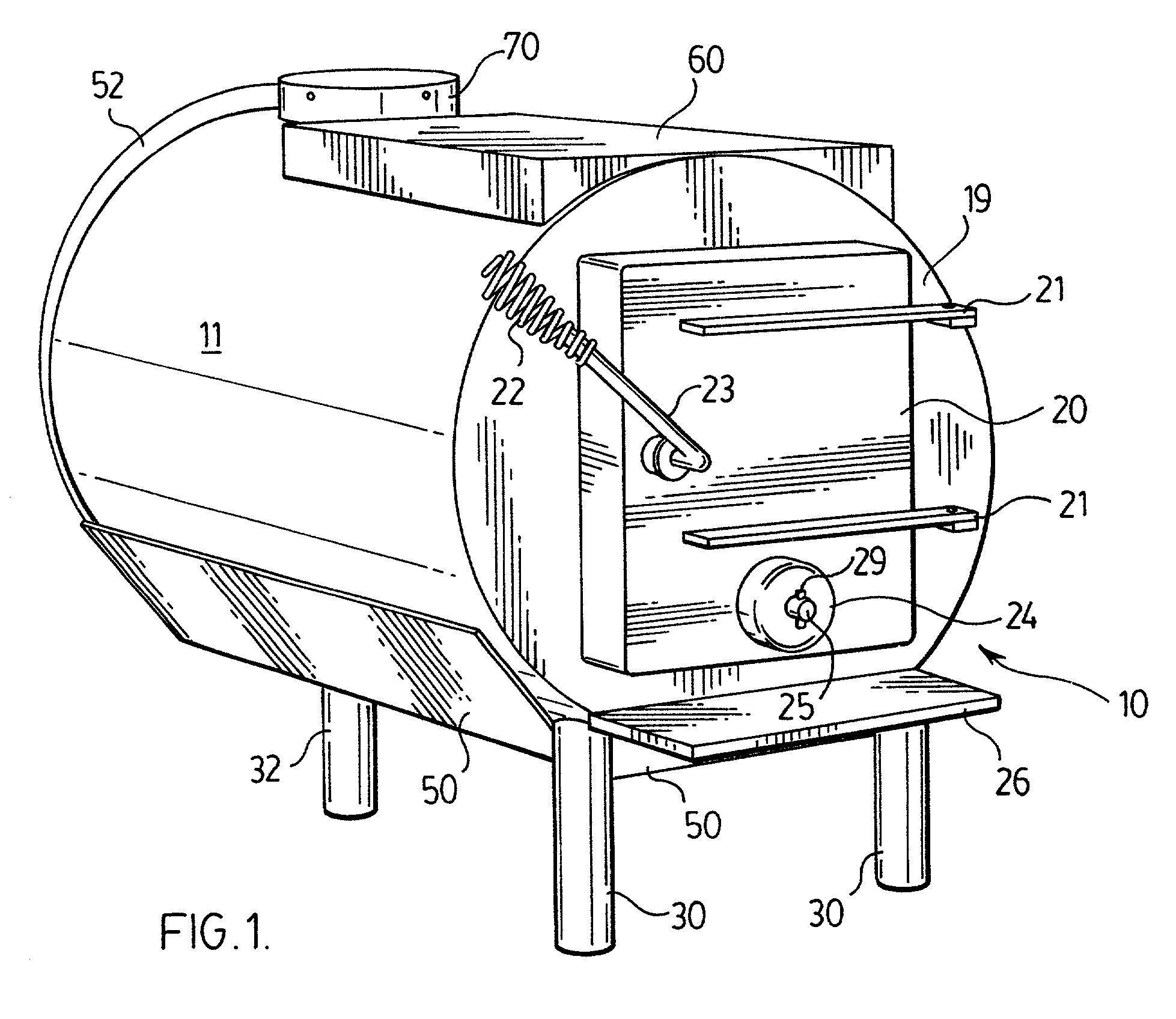 patent us20010037803 - wood burning stove