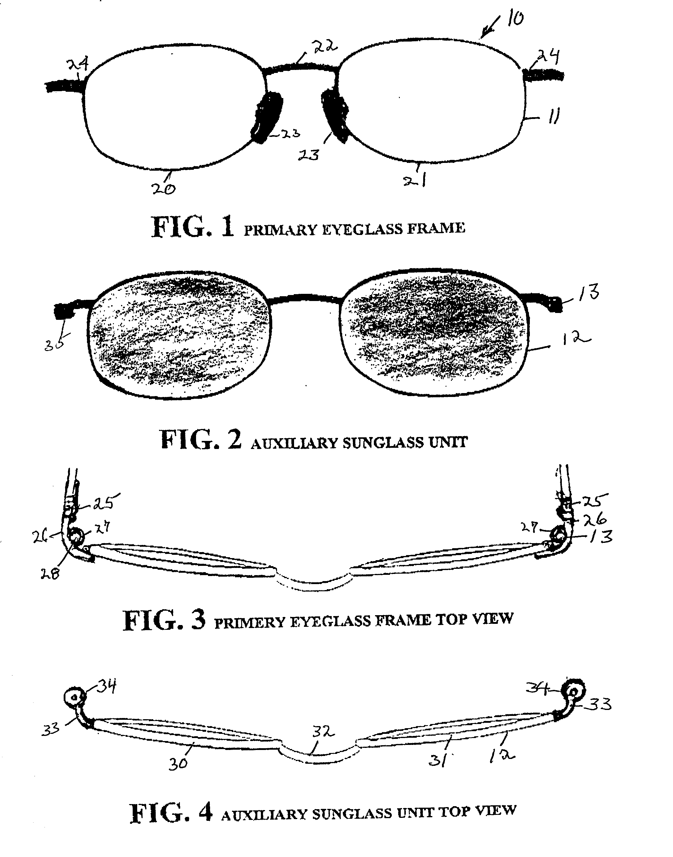 Patent US20010046029 - Spectacle frame with auxiliary frame of ...