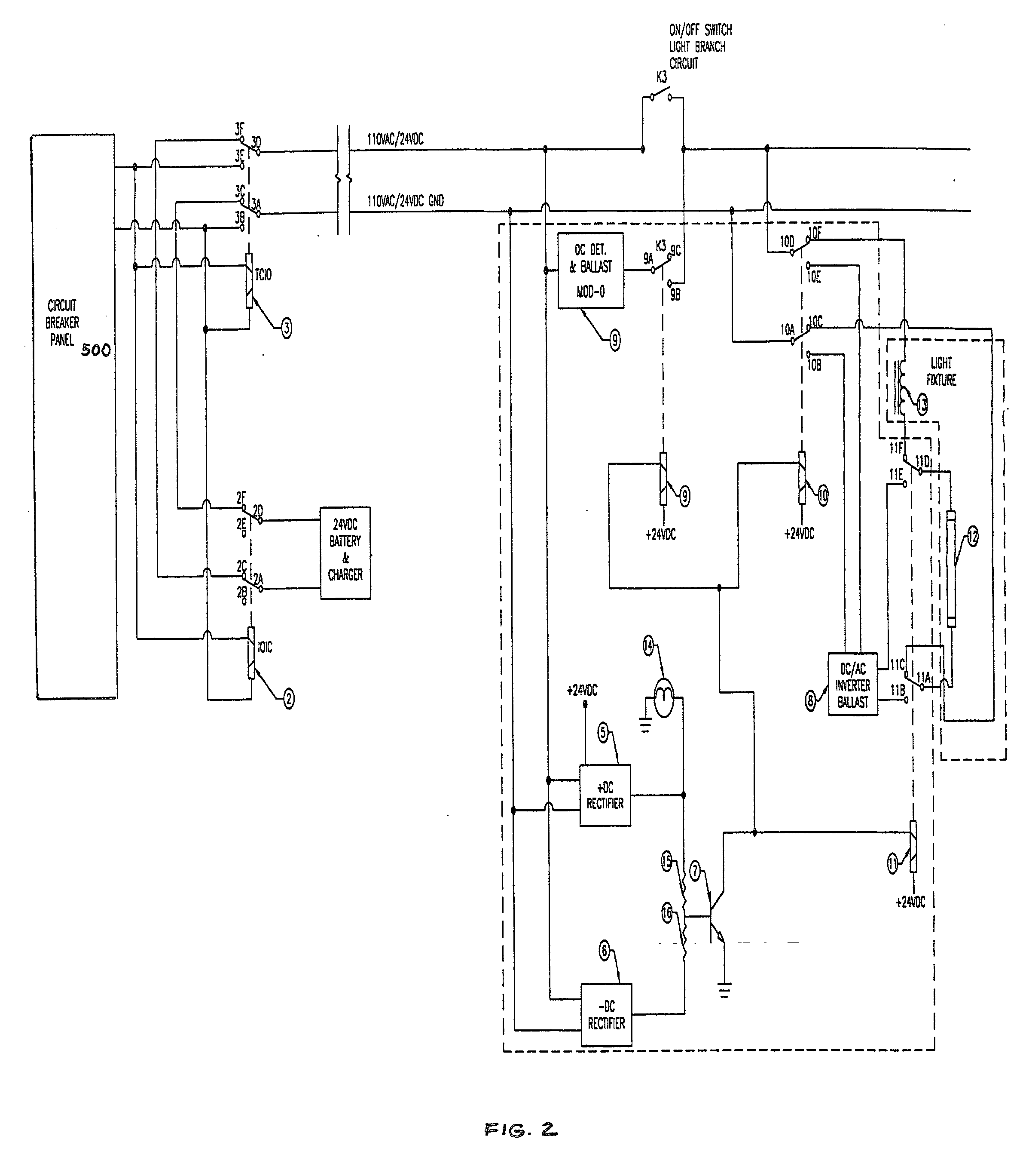 Patent Drawing  sc 1 st  Google & Patent US20020047627 - Central battery emergency lighting system ... azcodes.com