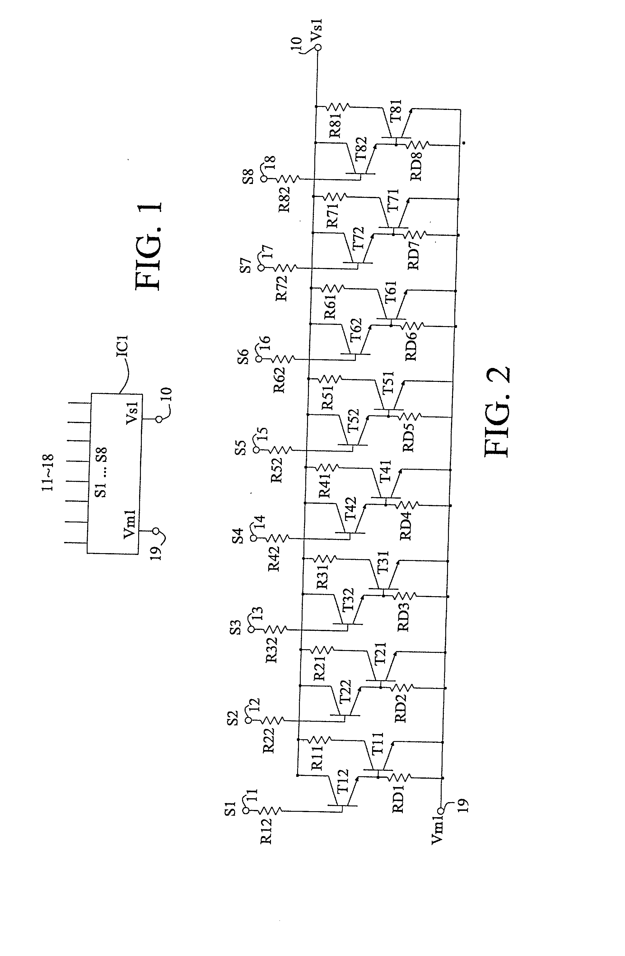 Brevet Us20020070989 Circuit For Driving Heater Of Printhead And By Using The Darlington Pair We Could Combine Two Patent Drawing