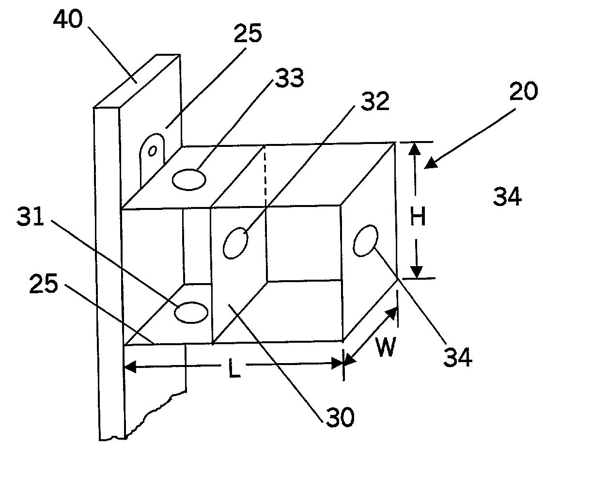 patent us20020074143 - door bell junction box