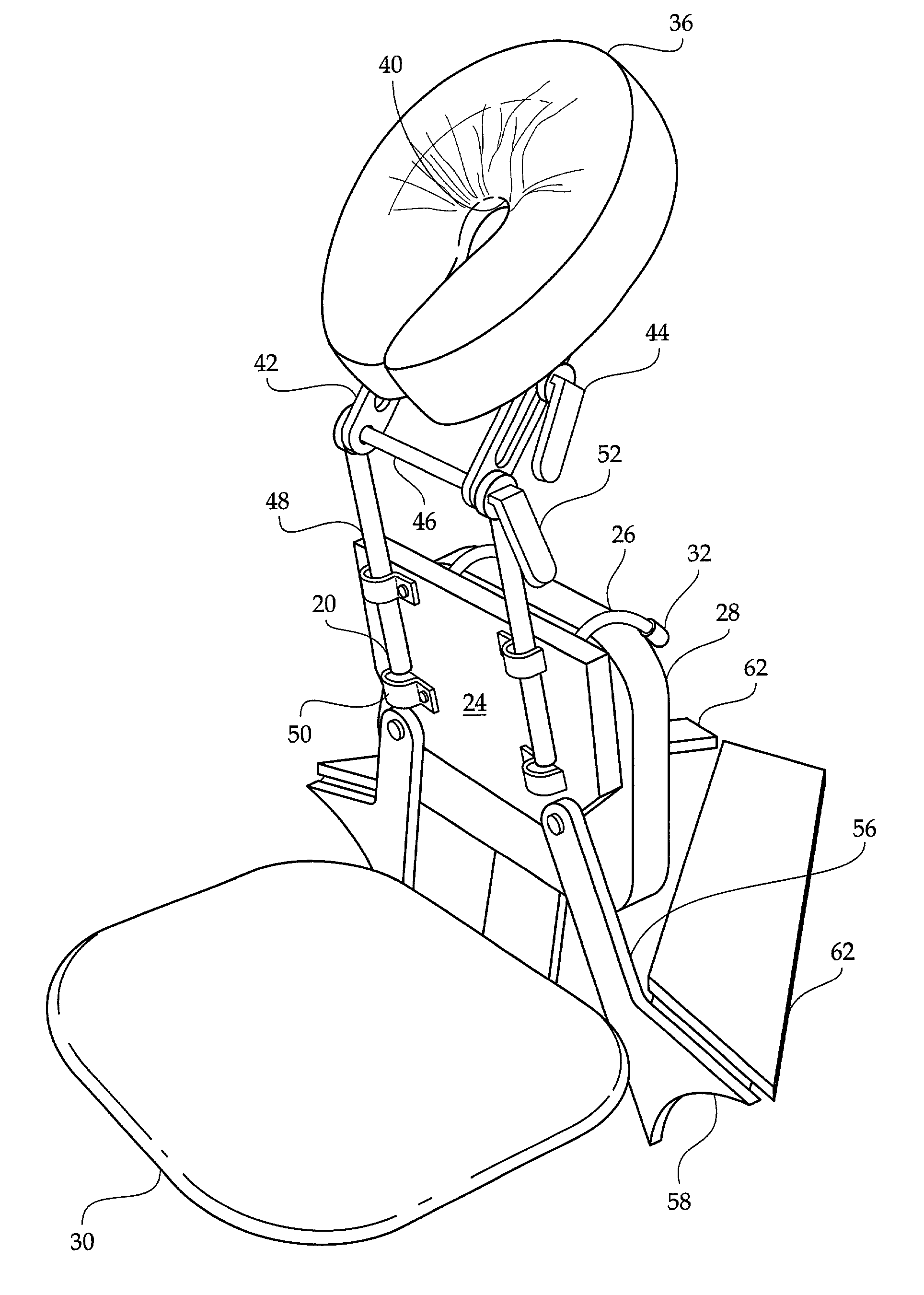 chair massage drawing. patent drawing chair massage r