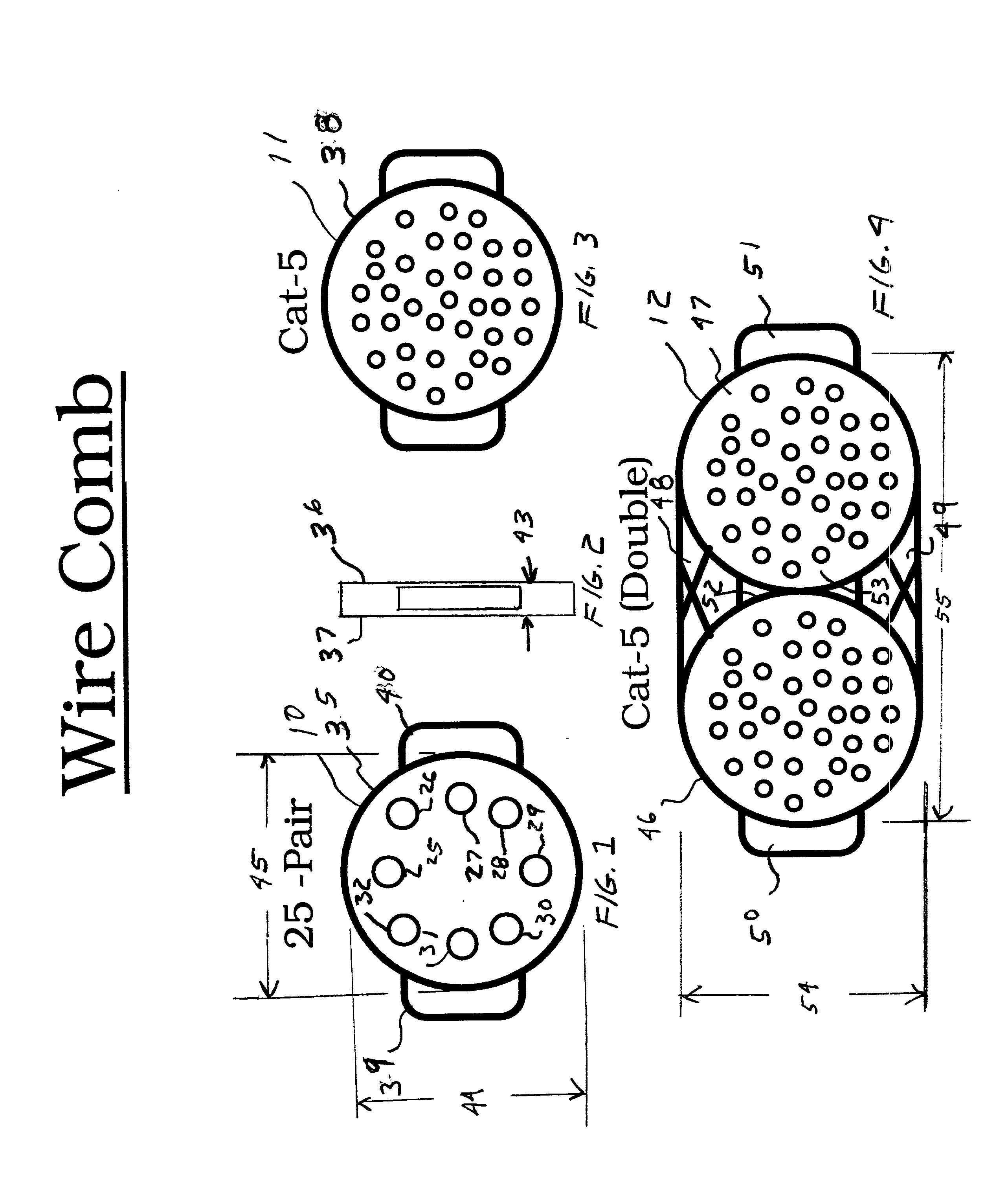 patent us20020104577 - wire comb