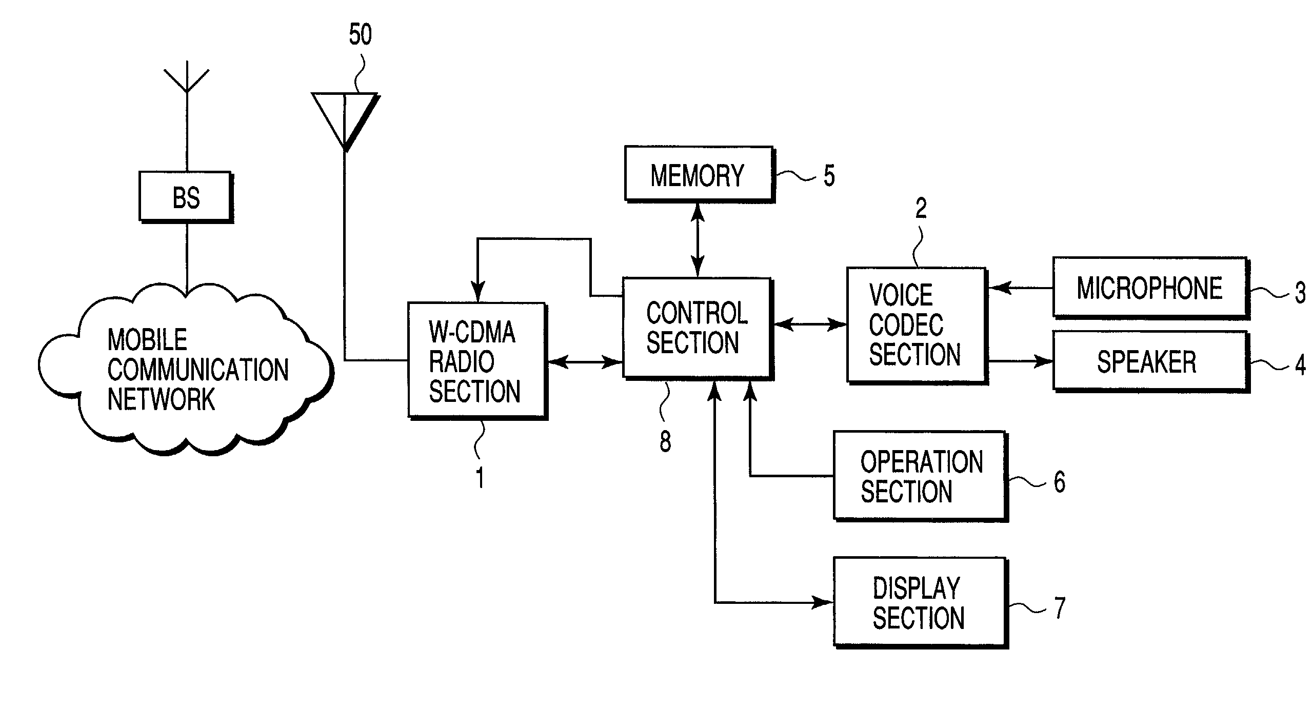Patent Us20020123315 Radio Communication Terminal And Gain Control Speaker Microphone Circuit Drawing