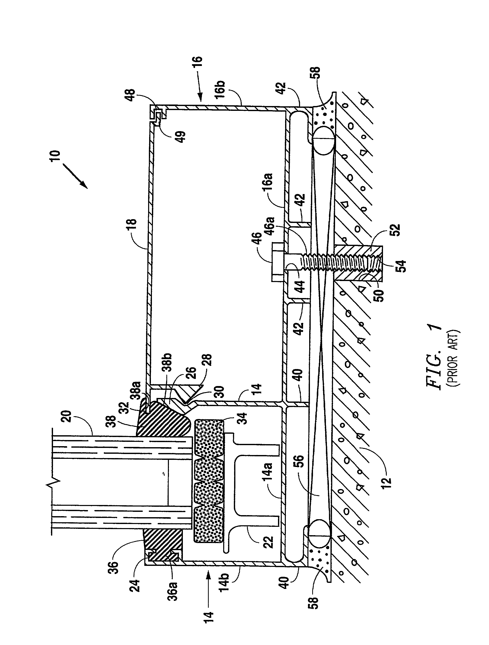 Curtain Wall Assembly : Patent us  building curtain wall with sill