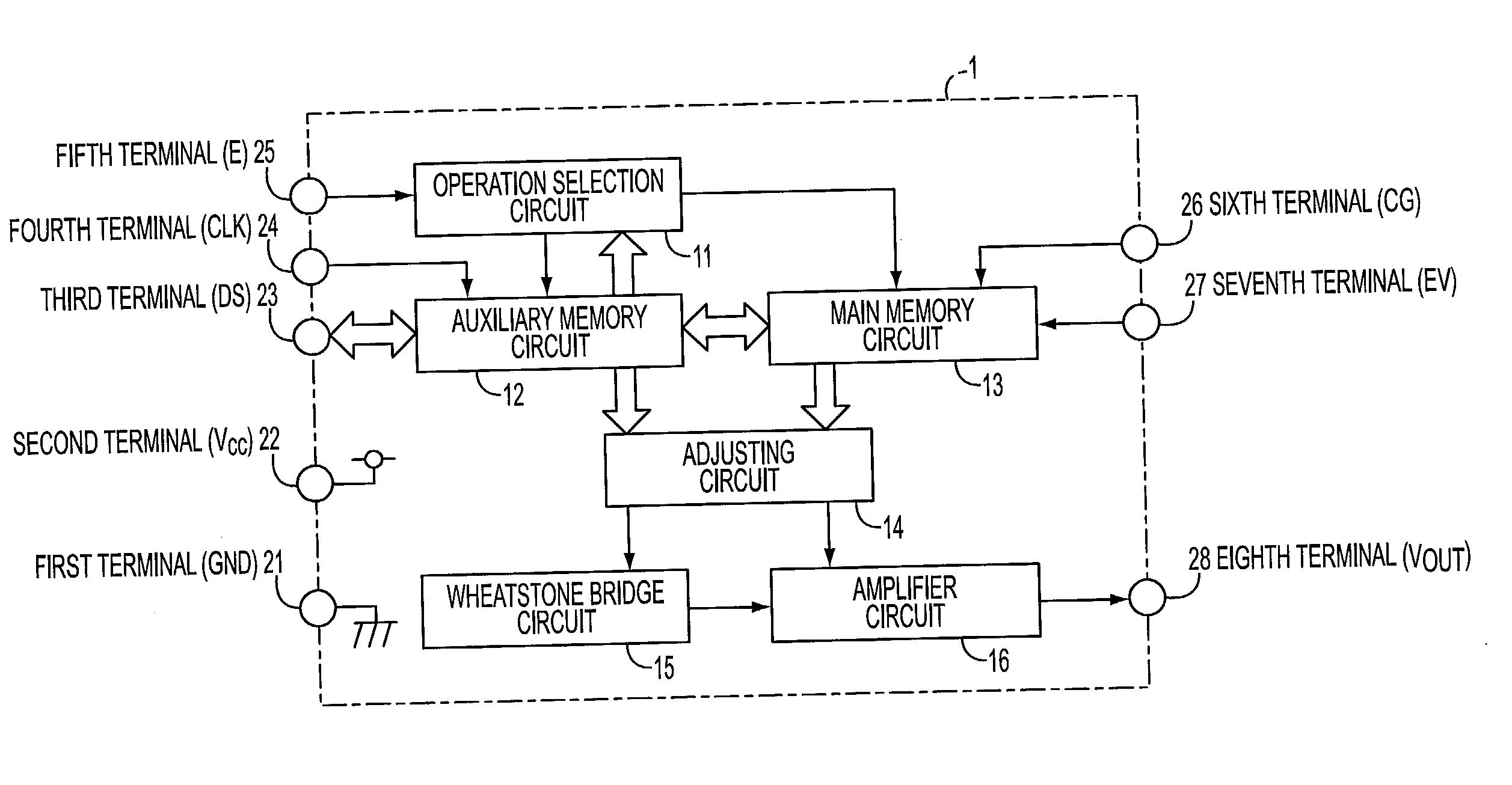 Patent Us20020149984 Semiconductor Physical Quantity Sensing Wheatstone Bridge Wiring Diagram Drawing