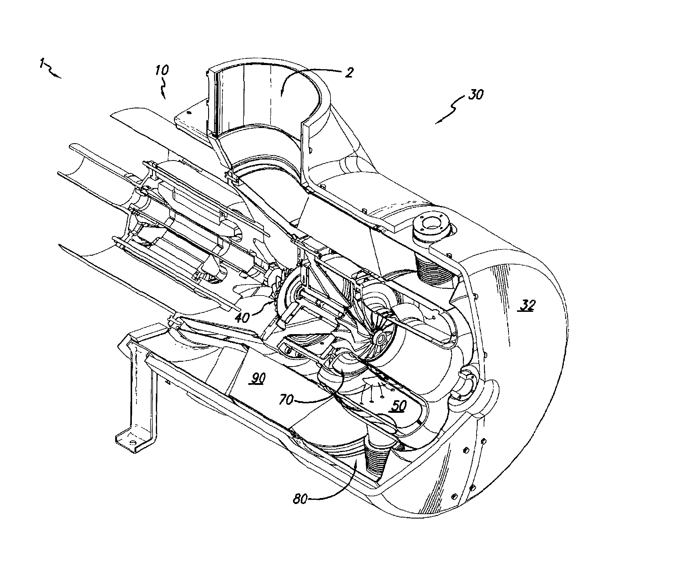 Patent US Microturbine capacitor power distribution
