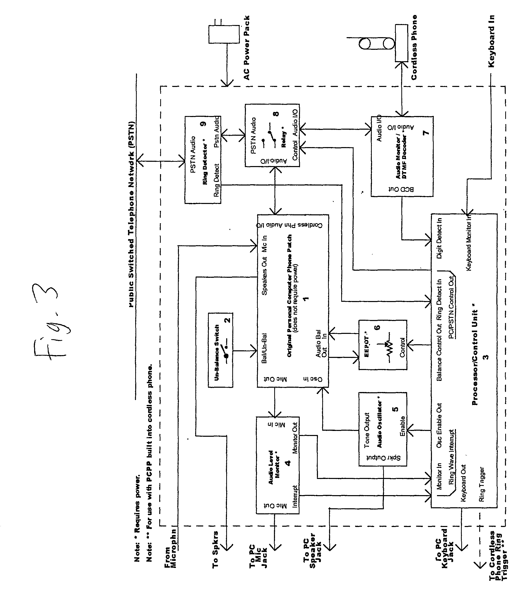 Brevet Us20030032393 Personal Computer Phone Patch Google Brevets Best Telephone Ringing Circuits Patent Drawing