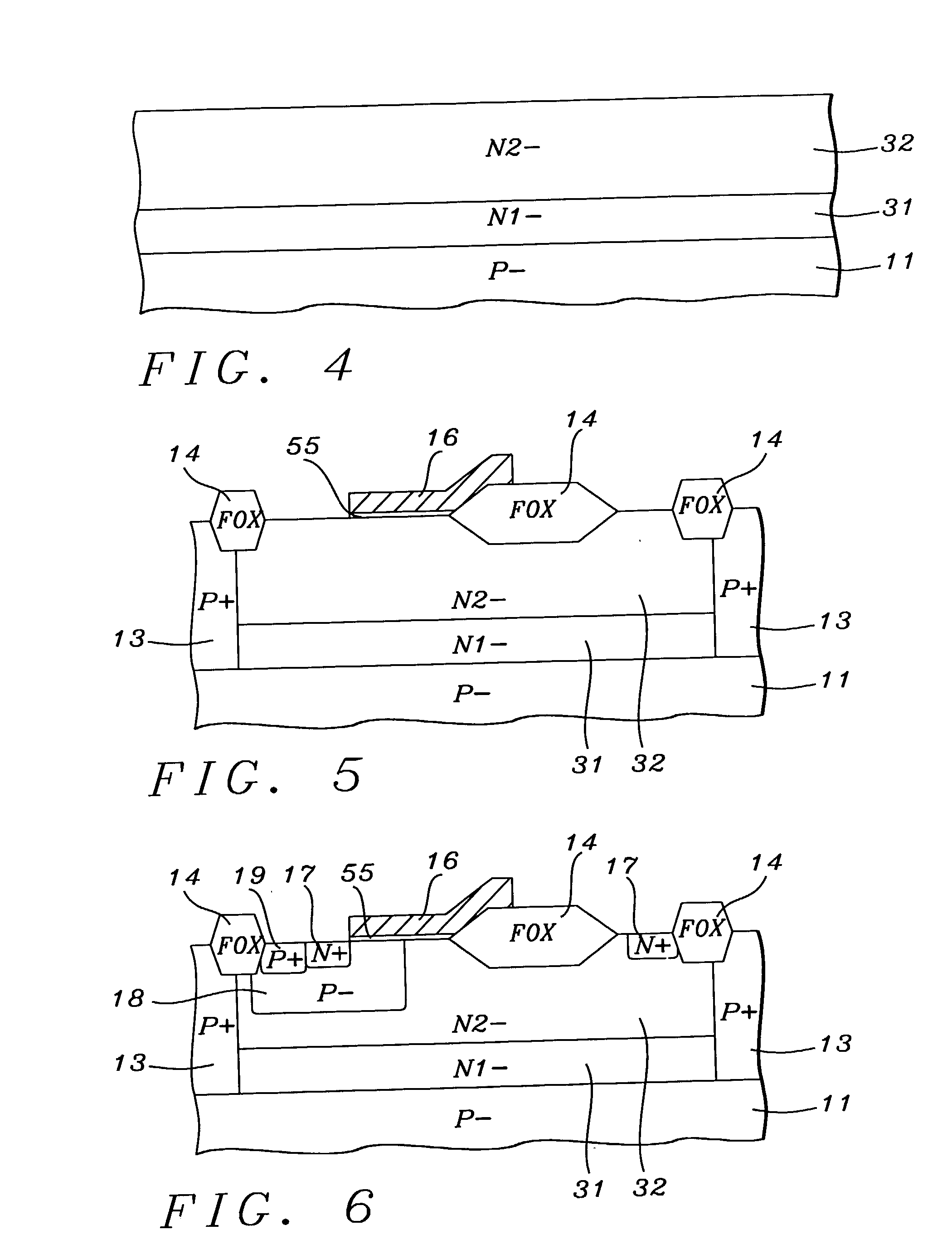 ldmos device with double n-layering and process for its