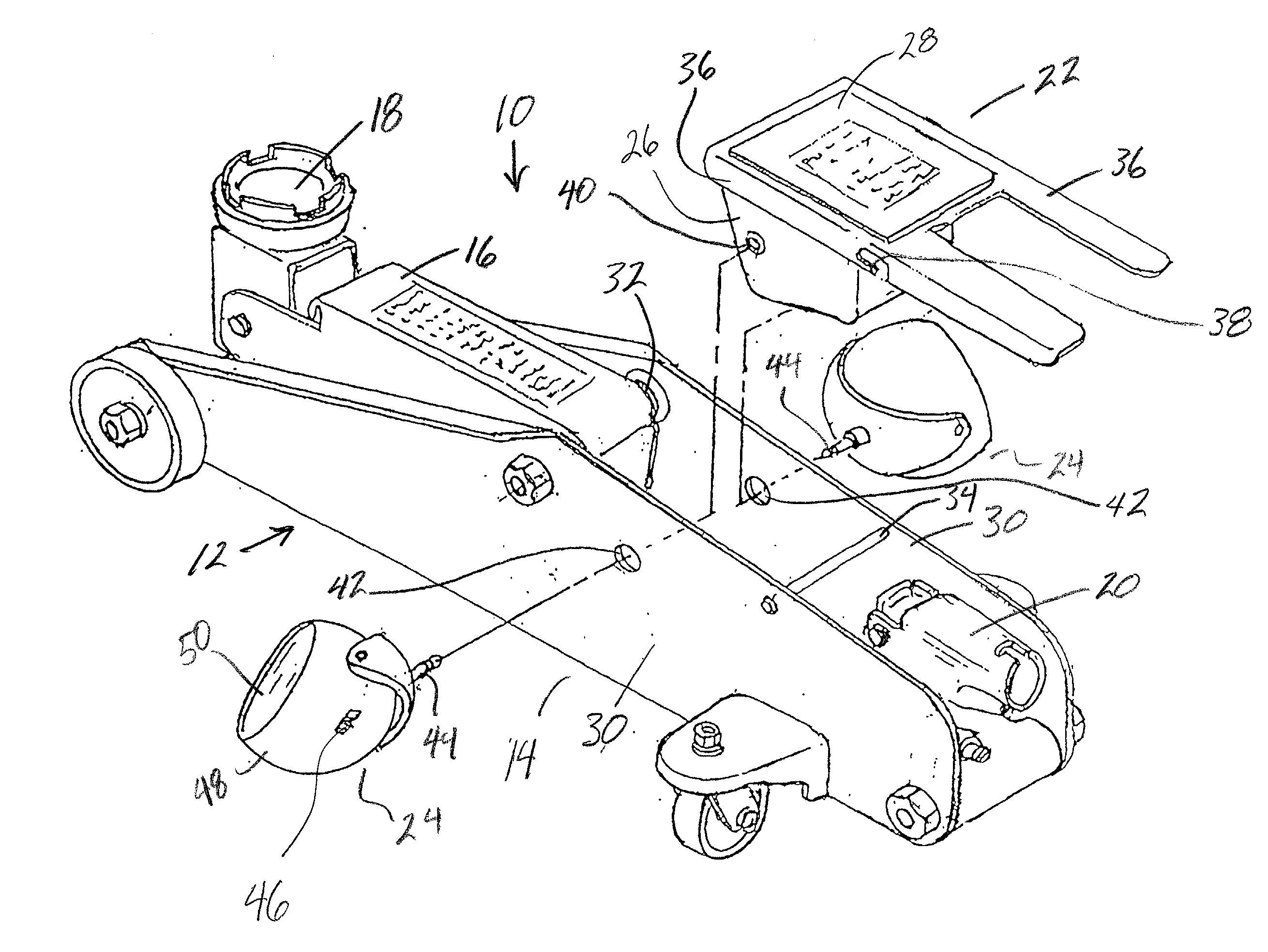 Patent Us20030043581 Vehicle Jack With Directable Light