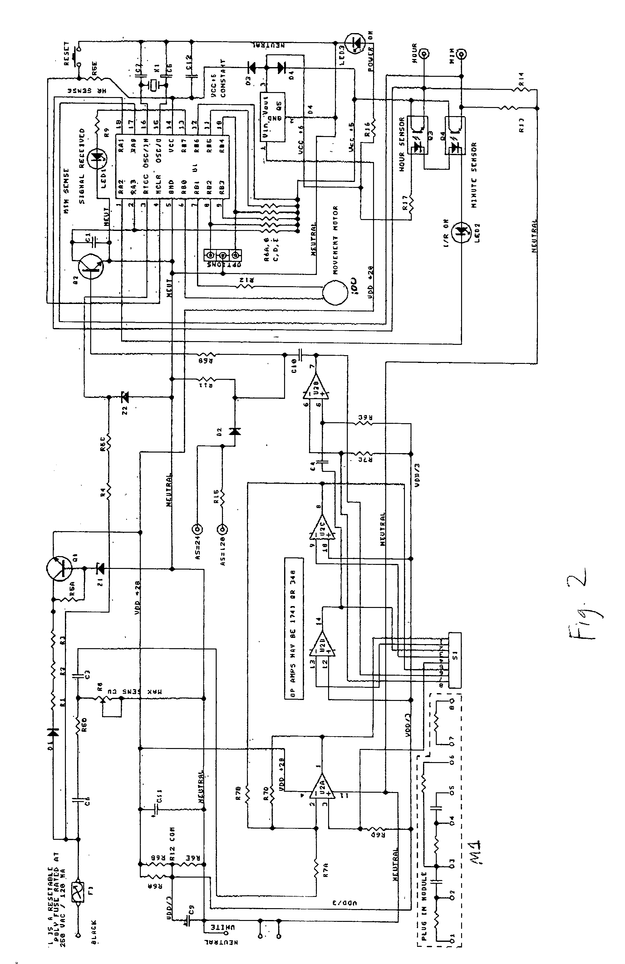 US20030063525A1 20030403 D00002 patent us20030063525 microprocessor controlled quartz analog simplex clock wiring diagram at gsmx.co