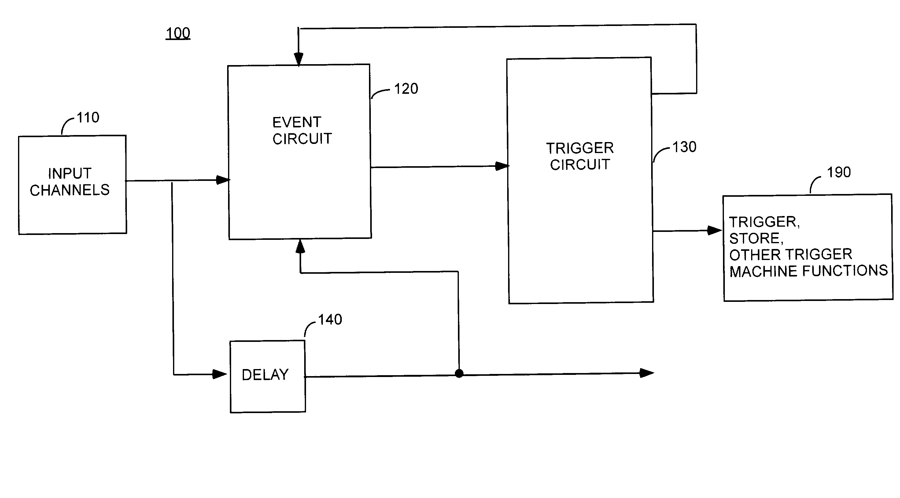 patent us  reloadable word recognizer for logic, block diagram