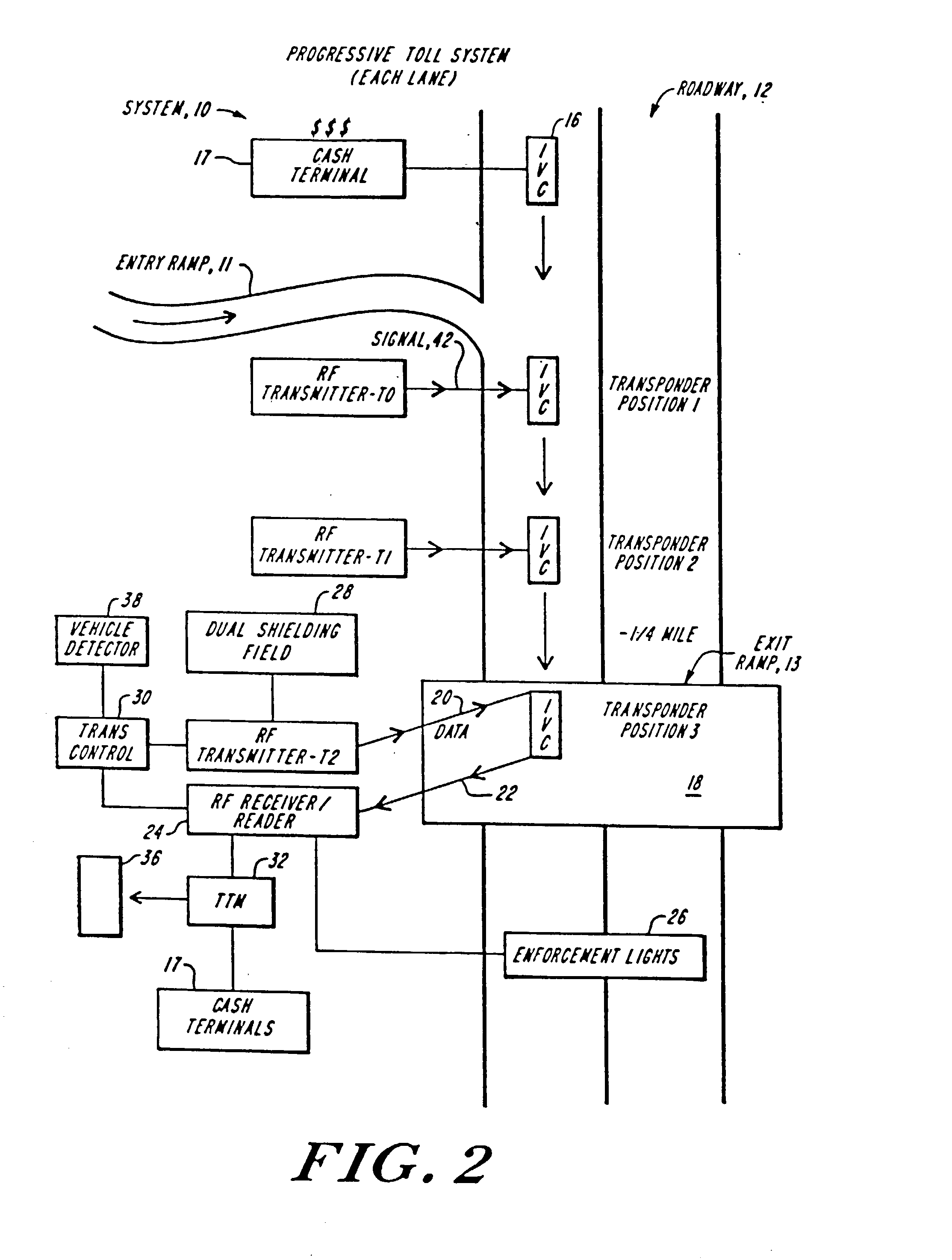 Audible Turnsignal Indicator Circuit Diagram Tradeoficcom Wiring All Points 421265 On Off Breaker Switch 30a 250v Patent Us20030067396 Electronic Vehicle Toll Collection System And Rh Google Ch
