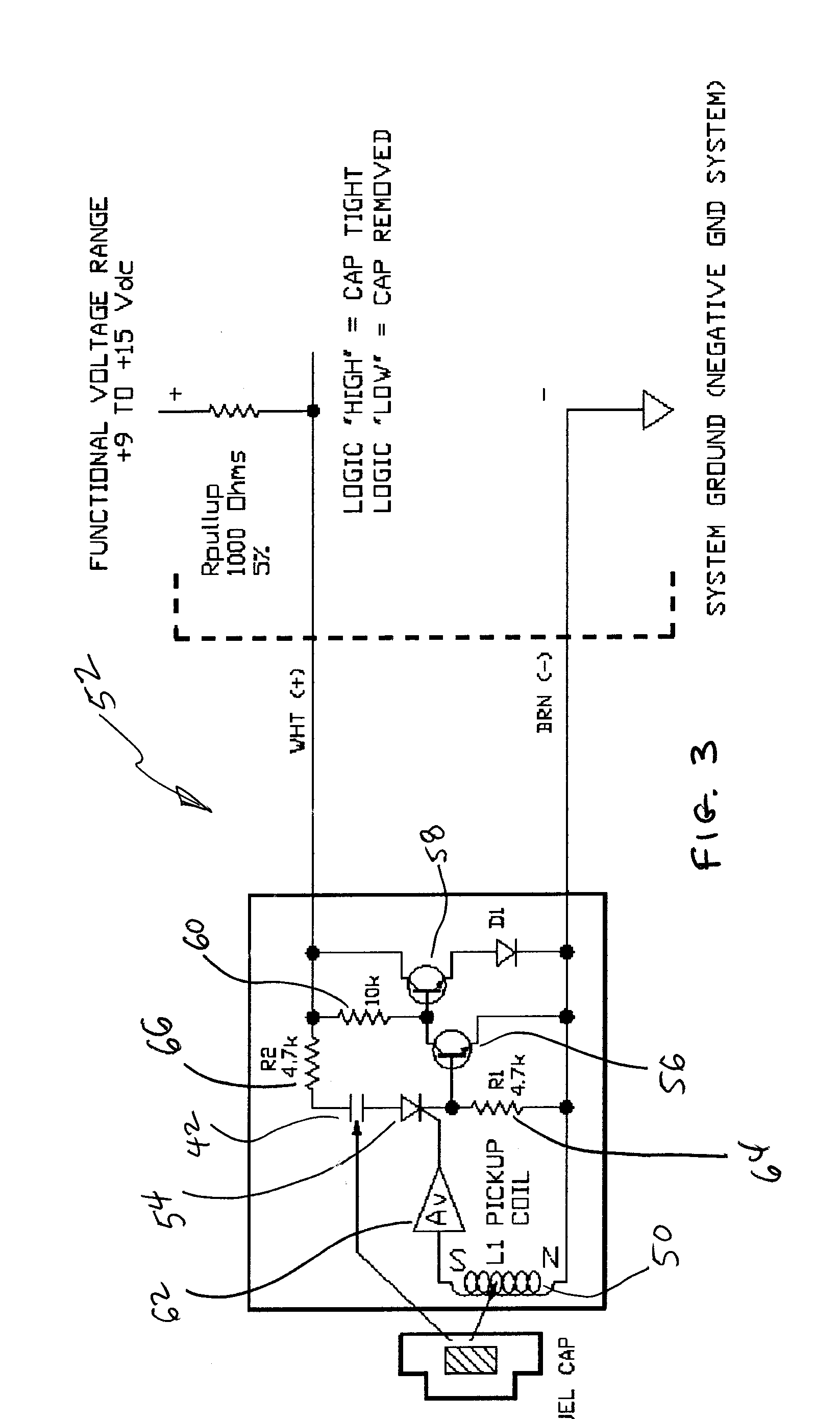 Patent Us20030102976 Active Fuel Cap Sensor Using Magnetic Impulse Reed Switch Wiring With Relays Moreover Latching Relay Circuit Diagram Drawing