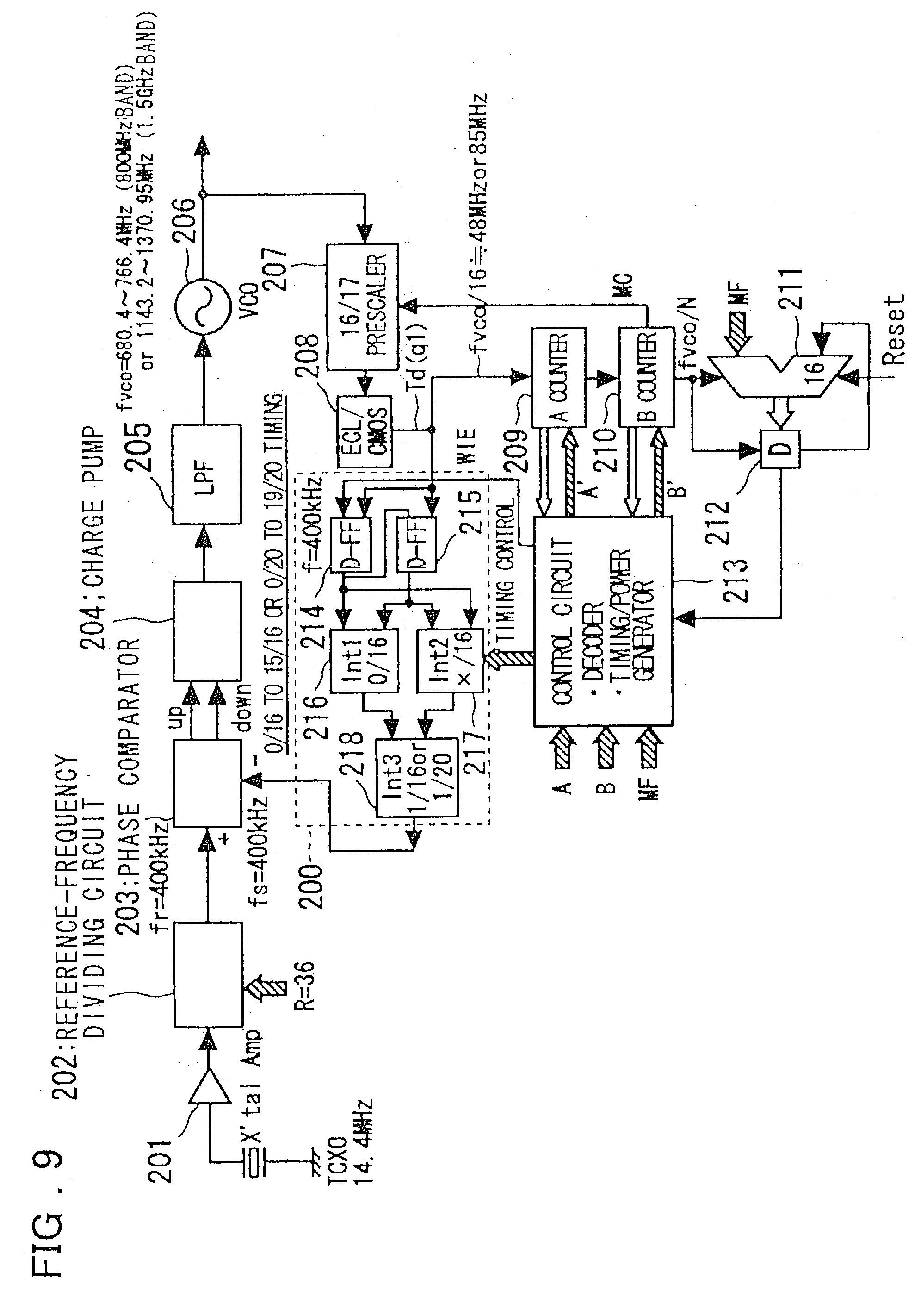Paten Us20030112079 Pll Circuit Google 5hz 5mhz Function Generator Is Shown In The Chart Patent Drawing