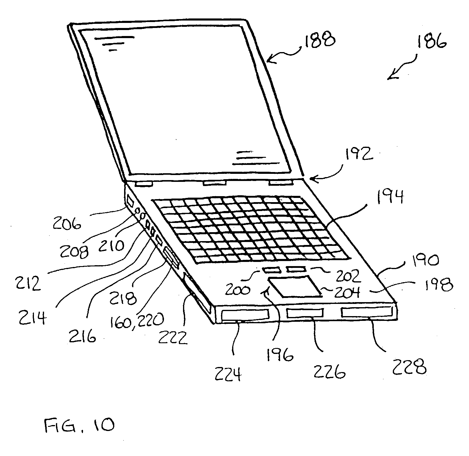 patent us20030114039  rj45 connector for type ii pc card extension cord
