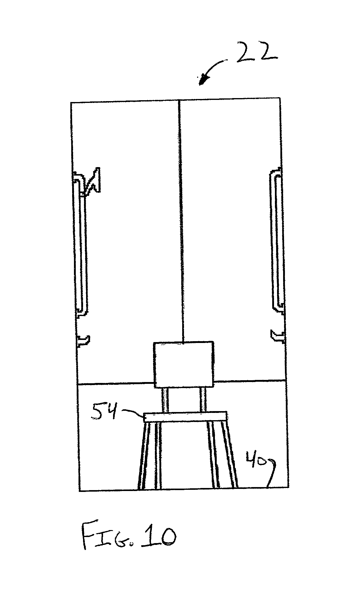 Patent us20030140571 ada compliant portable bathroom for Ada compliant hallway