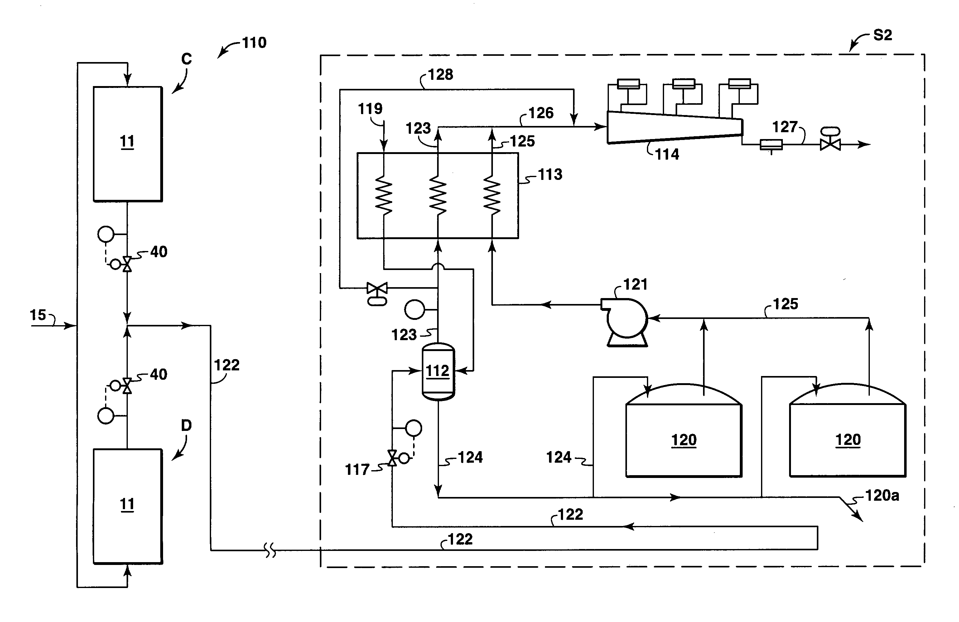 Patent Us20030154739 Processes And Systems For Liquefying Natural Process Flow Diagram Lng Plant Drawing