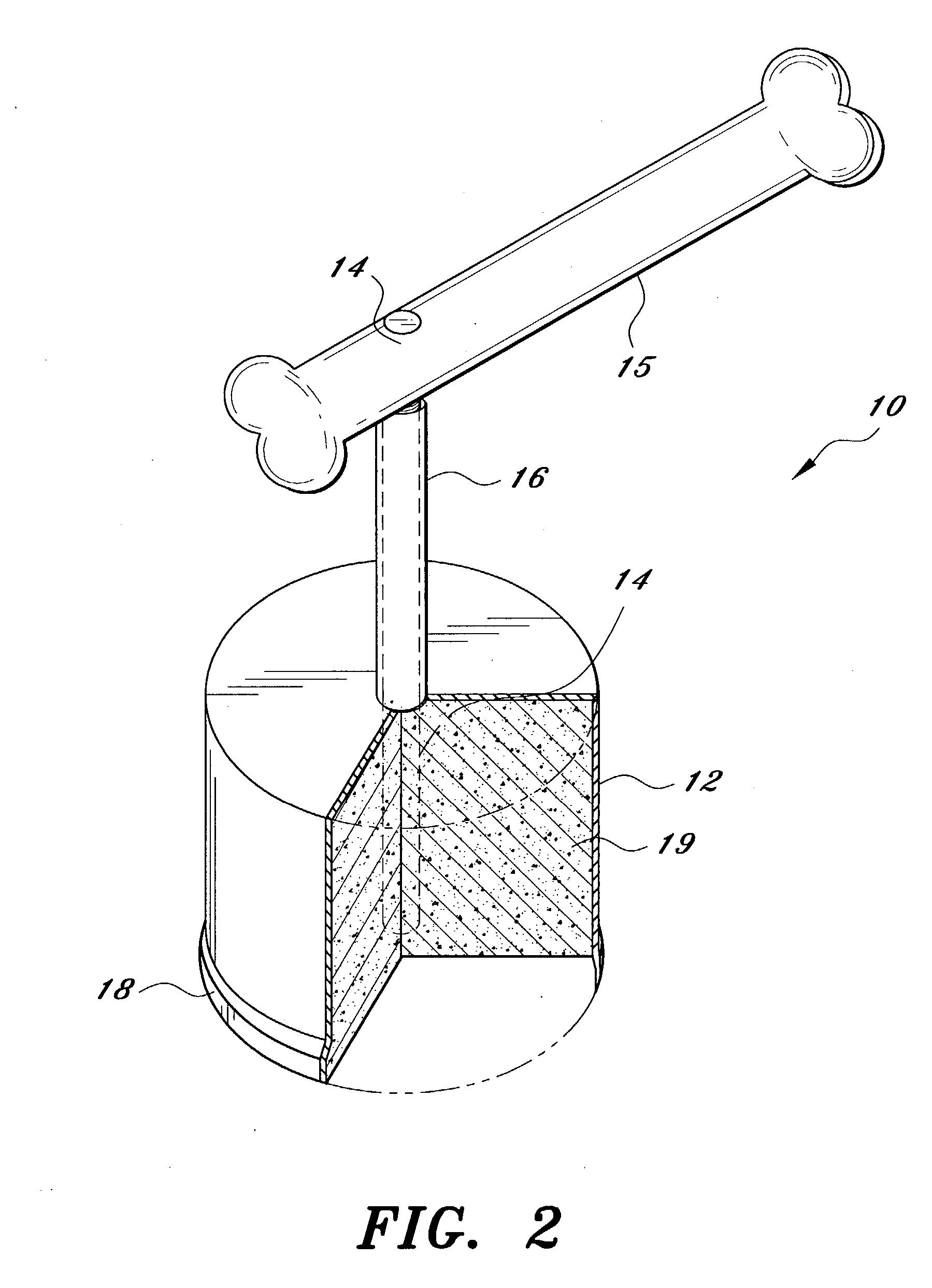 patent us20030205206 dog bone holder google patents