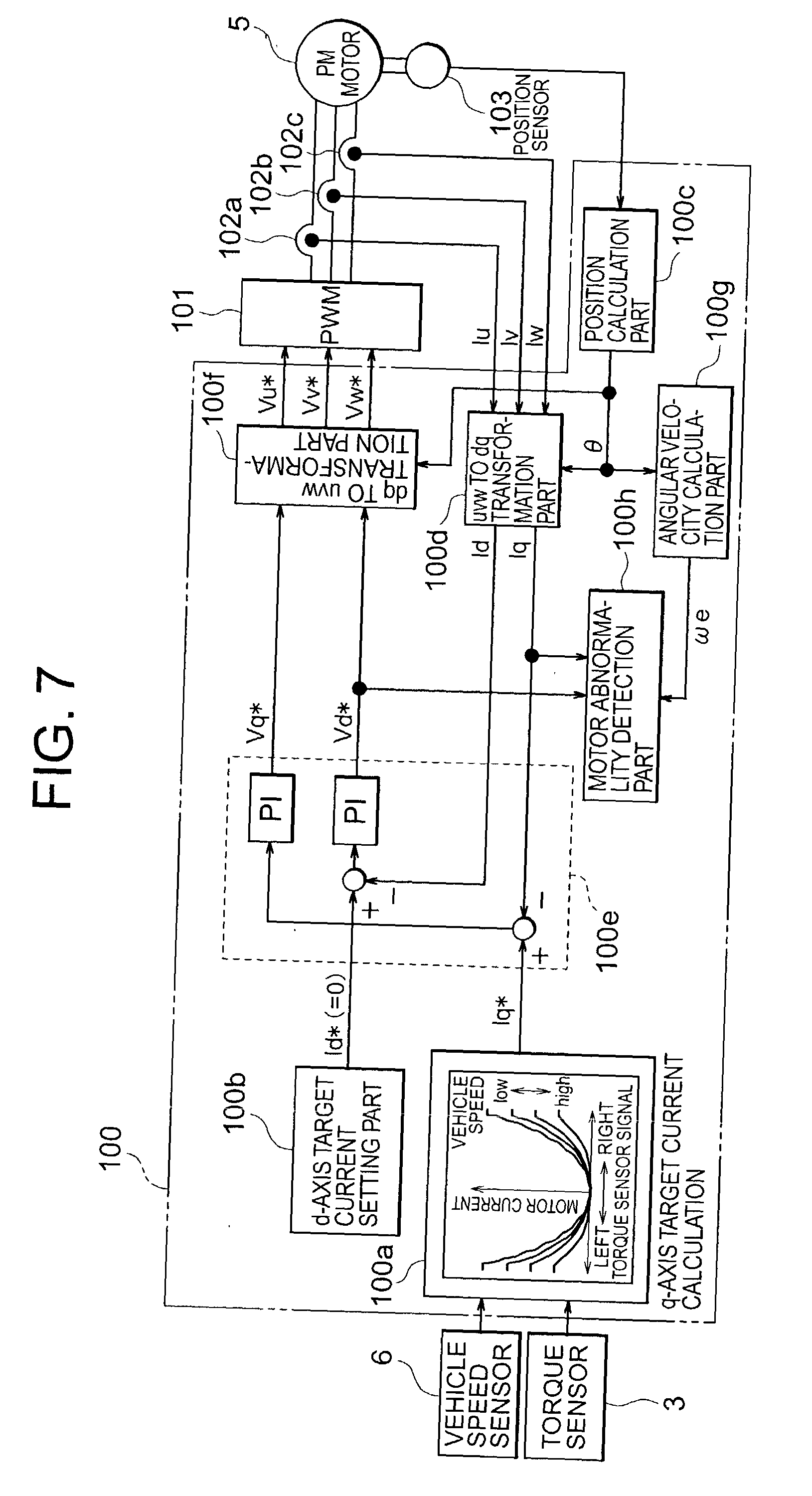 Patent Us20030222612 Motor Abnormality Detection Apparatus And 101 Speed Control Systems Brushless Ac Overview Drawing
