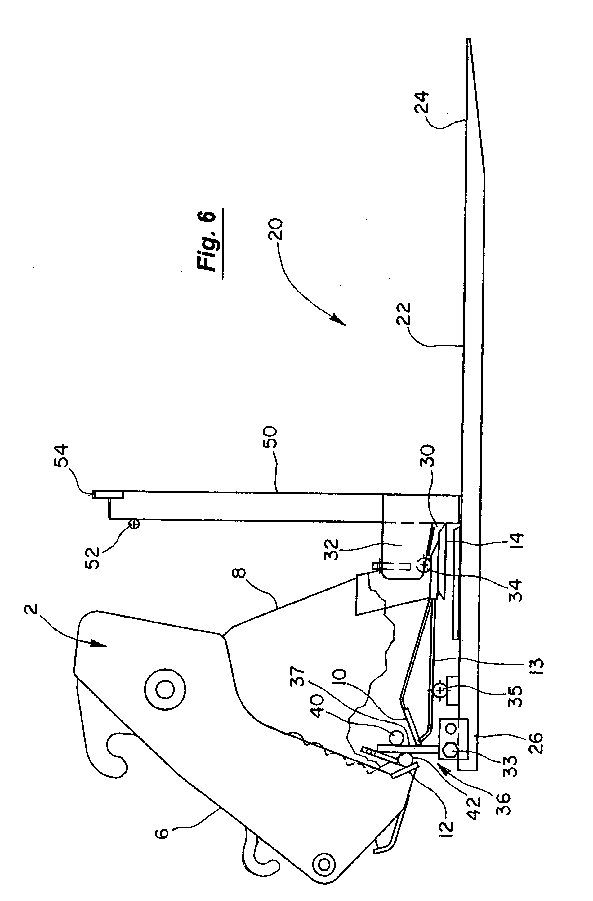 Patent Us20030228210 Fork Lift Attachment For Multi Purpose Bucket Komatsu Forklift Wiring Diagrams Acc 50 Drawing