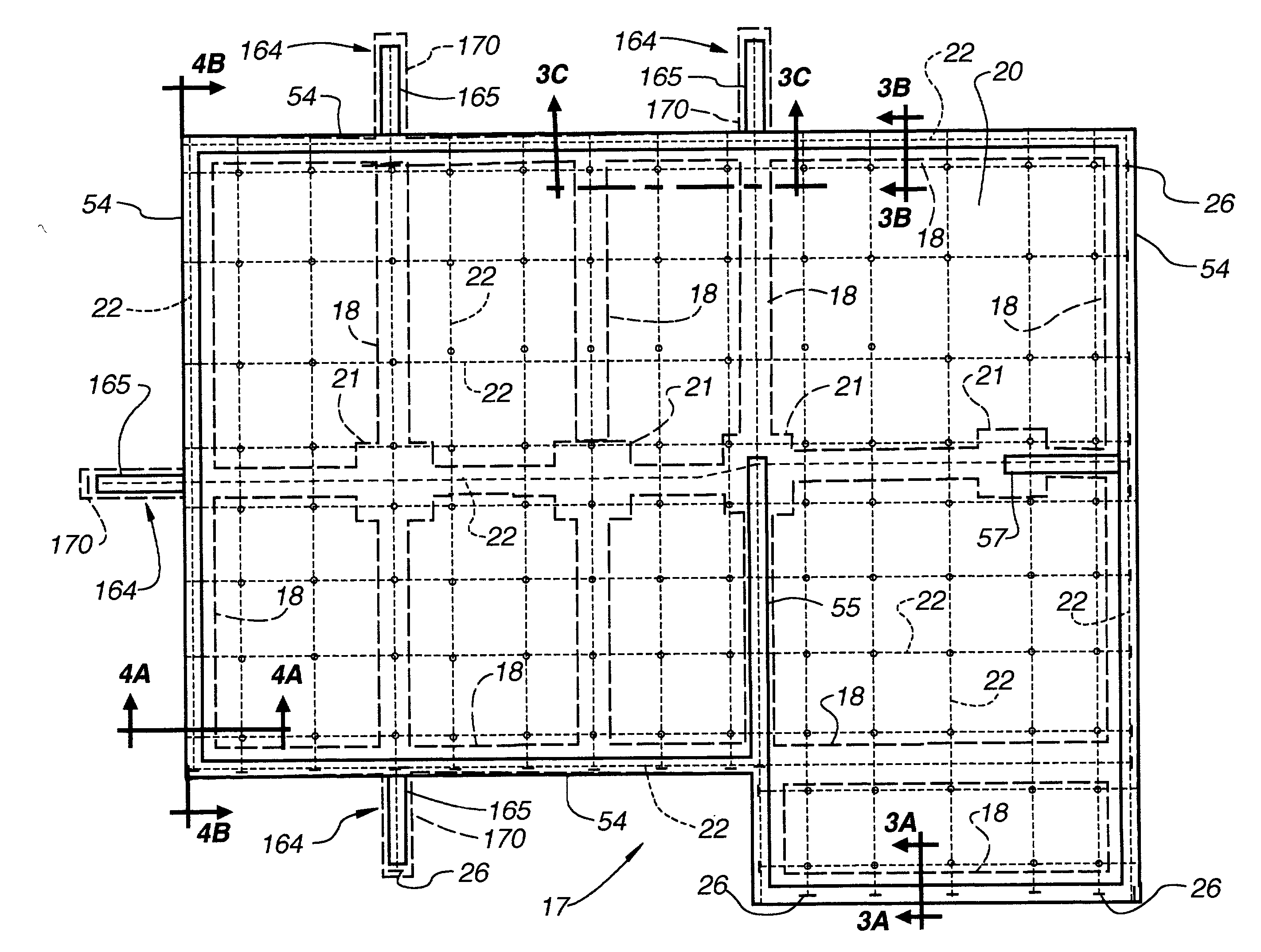 Patent us20030233798 post tensioned below grade for Concrete slab house plans