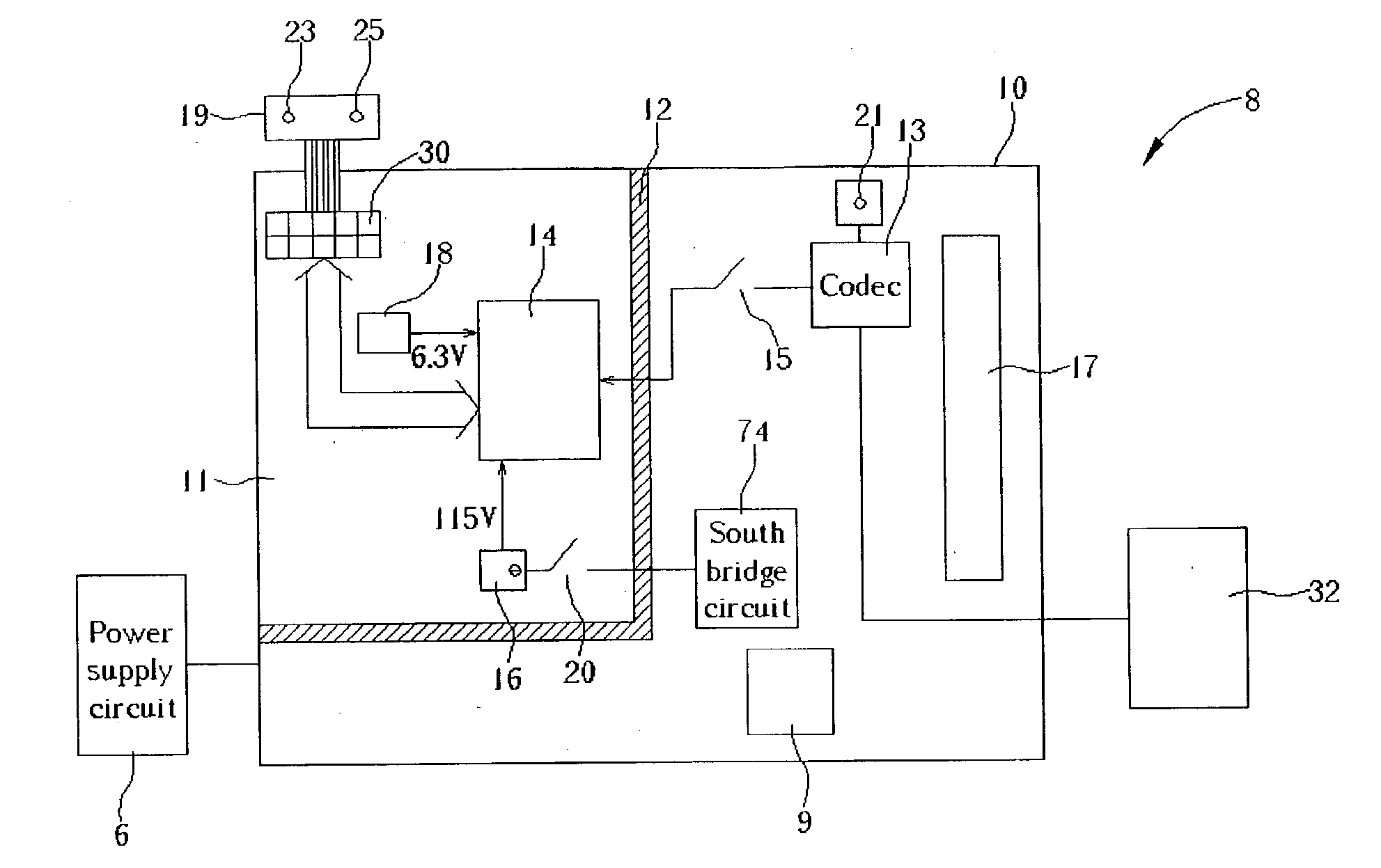 Patent Us20040002780 Computer System With A Preamplifier Circuit Voice Recording Control Audiocircuit Diagram Drawing