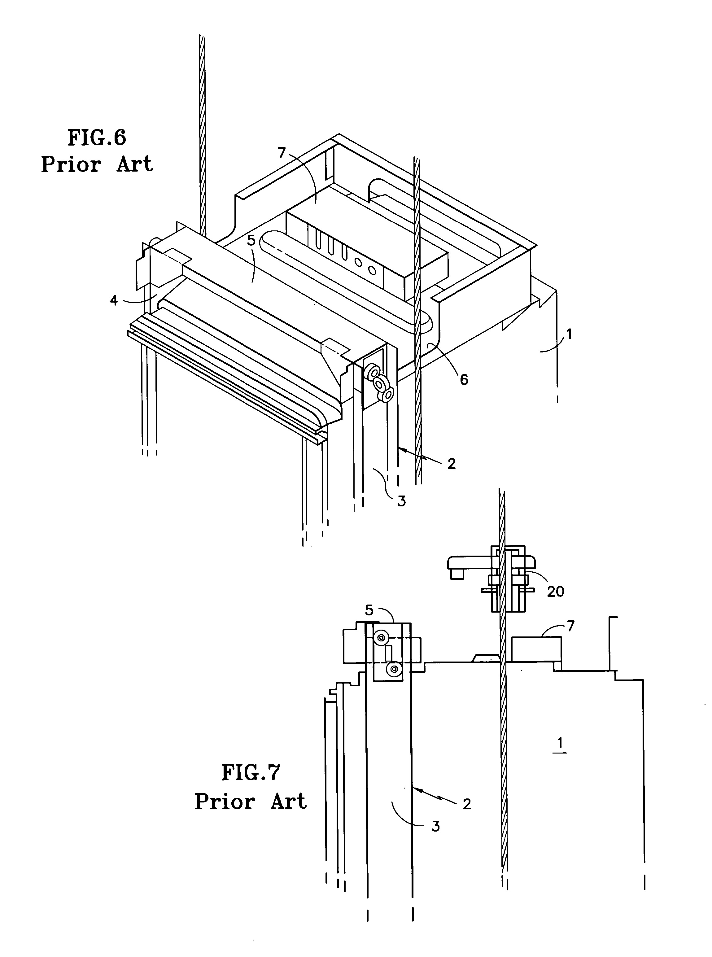 patent us20040035647 - elevator car frame with integral controller