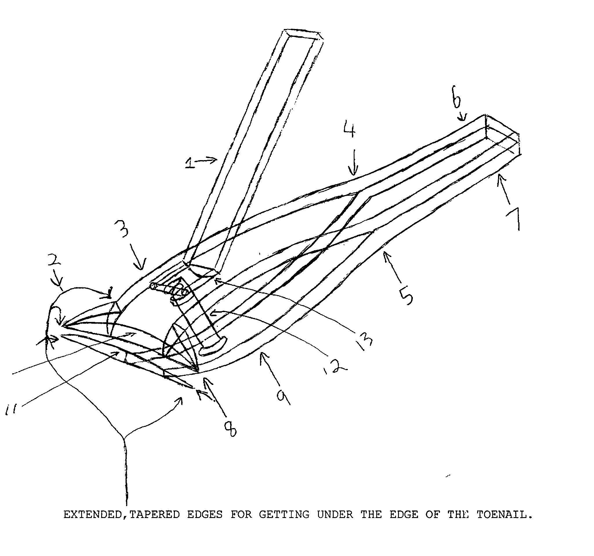 Patent US20040040156 - V-Nose toe nail clipper - Google Patents