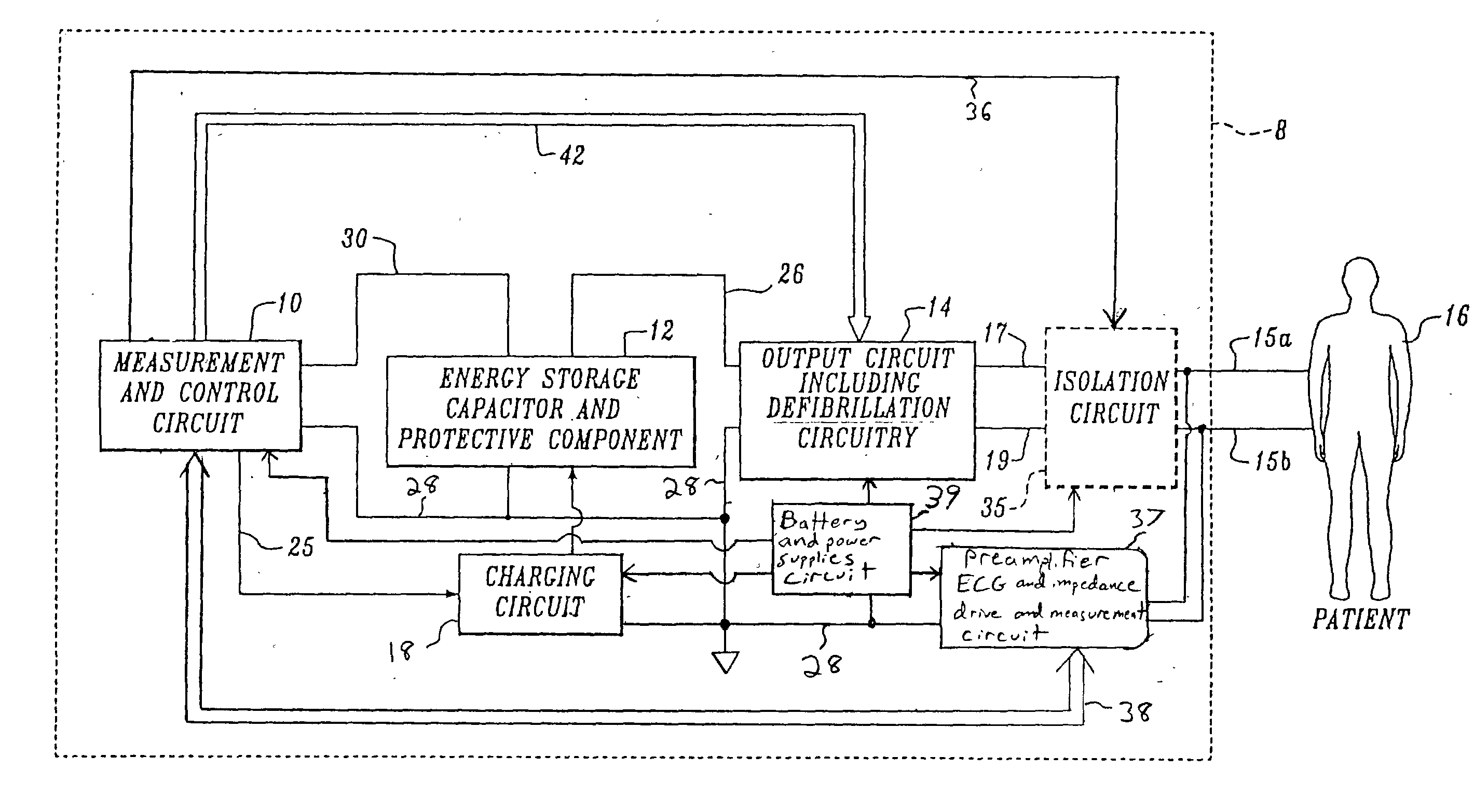 Patent Us20040044371 Defibrillator With H Bridge Output Circuit Circuits Electronic Filter Topology Image Impedance Drawing