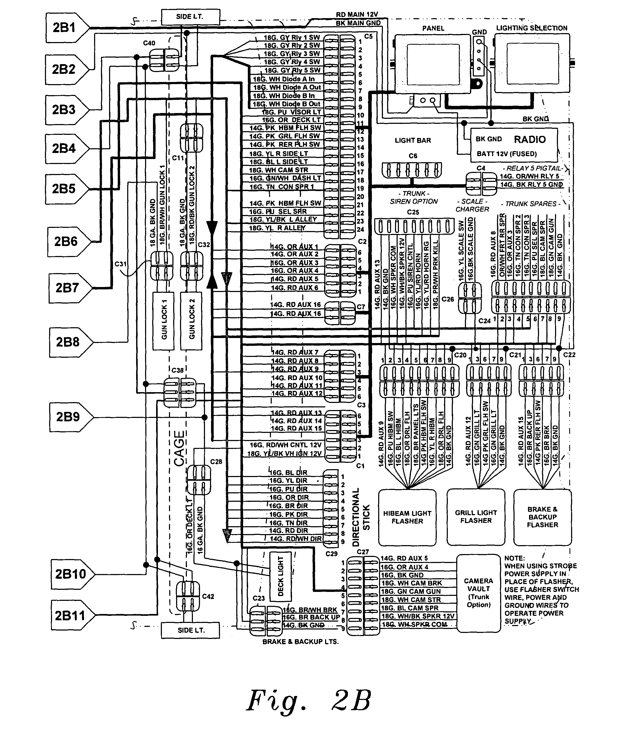 US20040061446A1 20040401 D00003 patent us20040061446 universal fleet electrical system google federal signal ss2000 wiring diagram at virtualis.co
