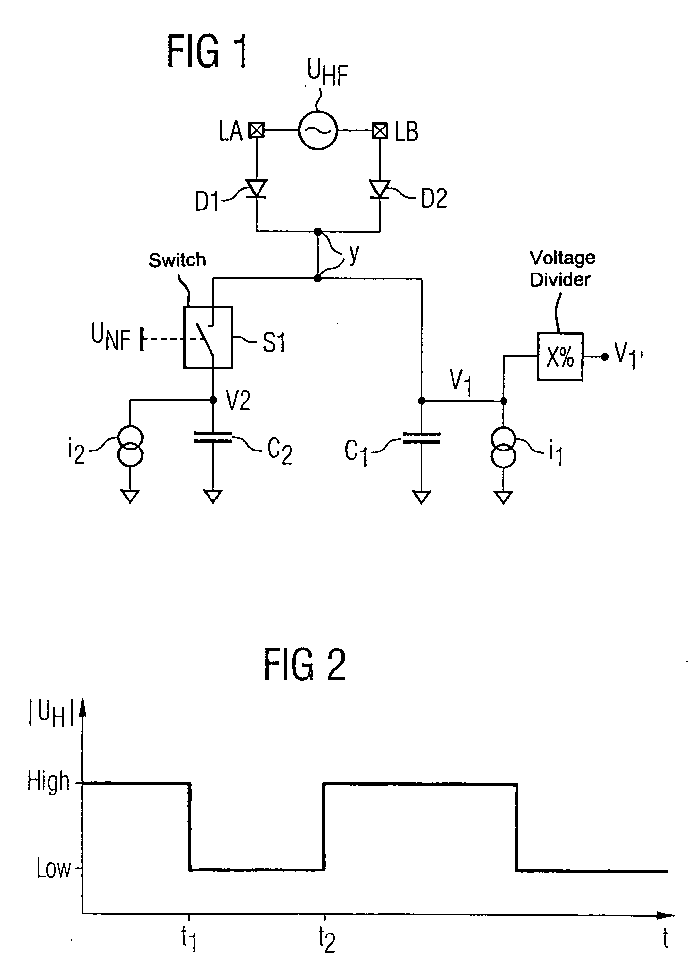 Patent Us20040066227 Circuit Configuration For Demodulating A Voltage Divider Explained Electronic Projects Drawing